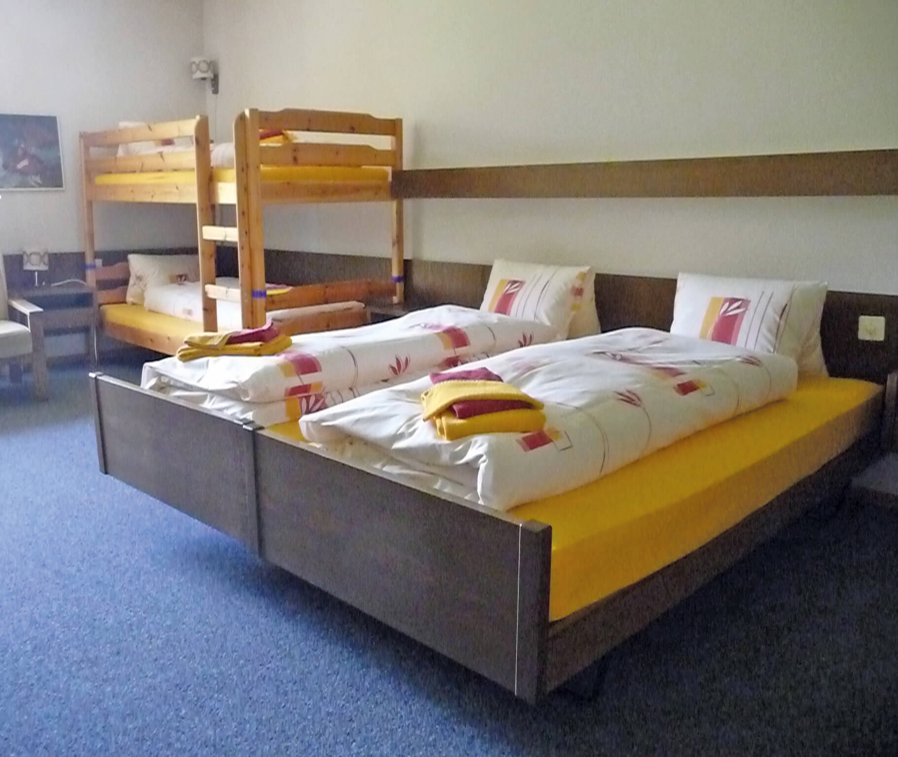 Familienzimmer im Hotel Kurhaus Grimmialp