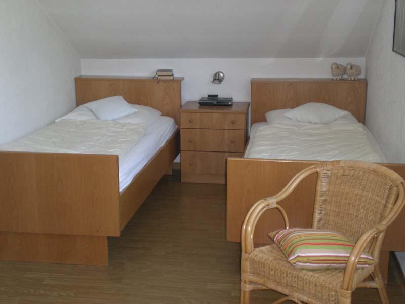 Schlafzimmer im Appartment Haus Tusche