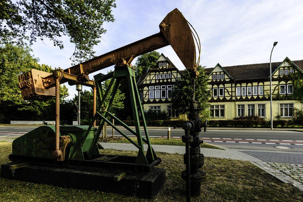 Historische Förderpumpe in Wietze