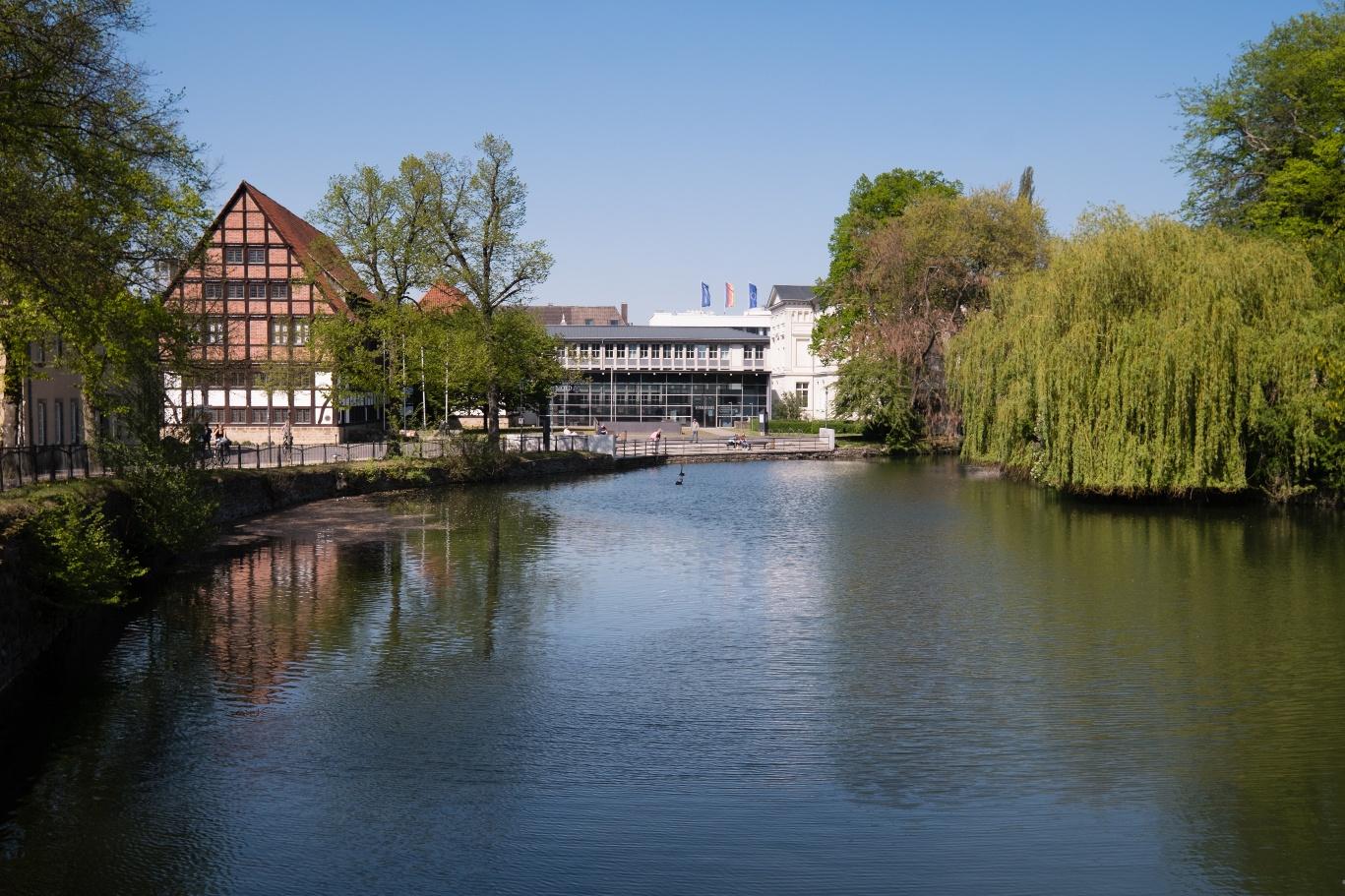 Blick auf das Lippische Landesmuseum