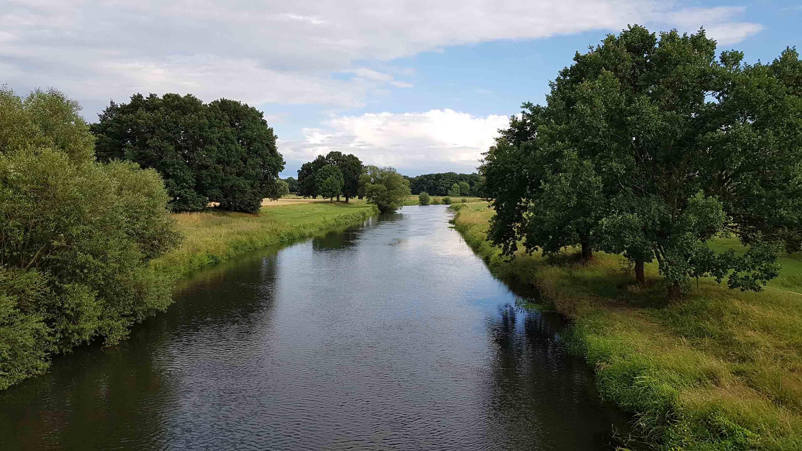 Herrlicher Ausblick über die Aller in Celle