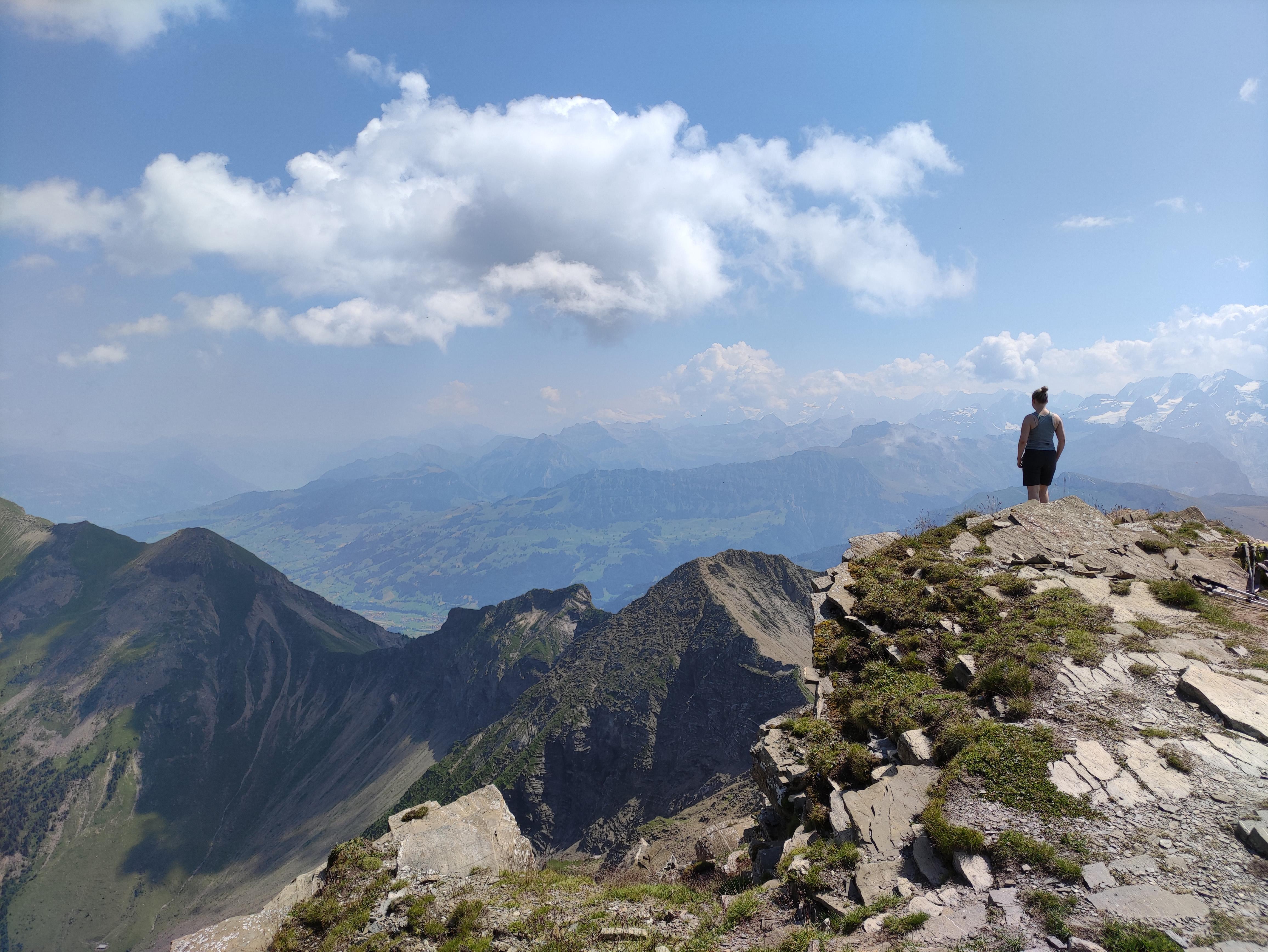 Weitblick ab dem Gipfel der Männlifluh