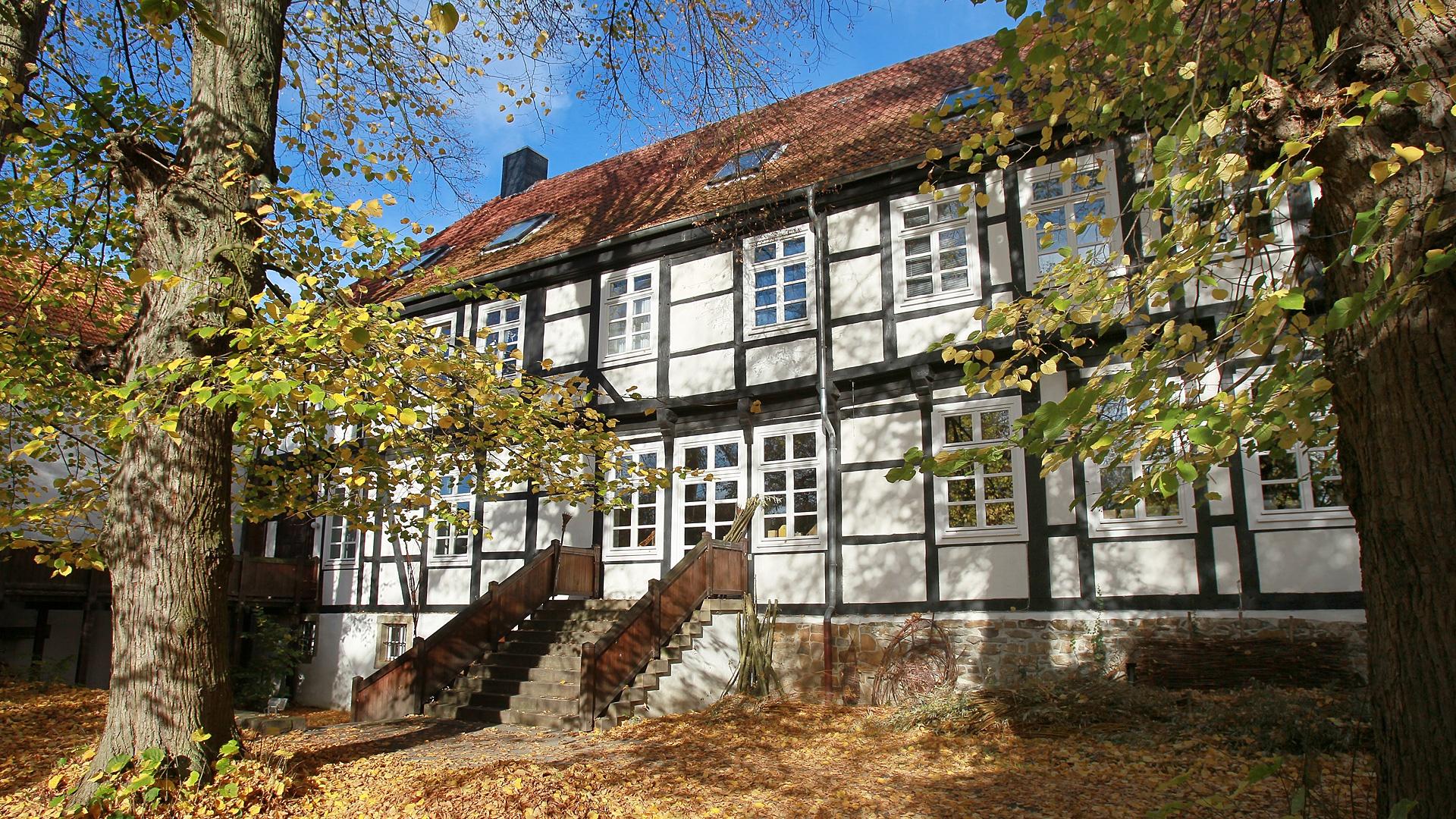 Herrenhaus Stift Quernheim Hinterhof