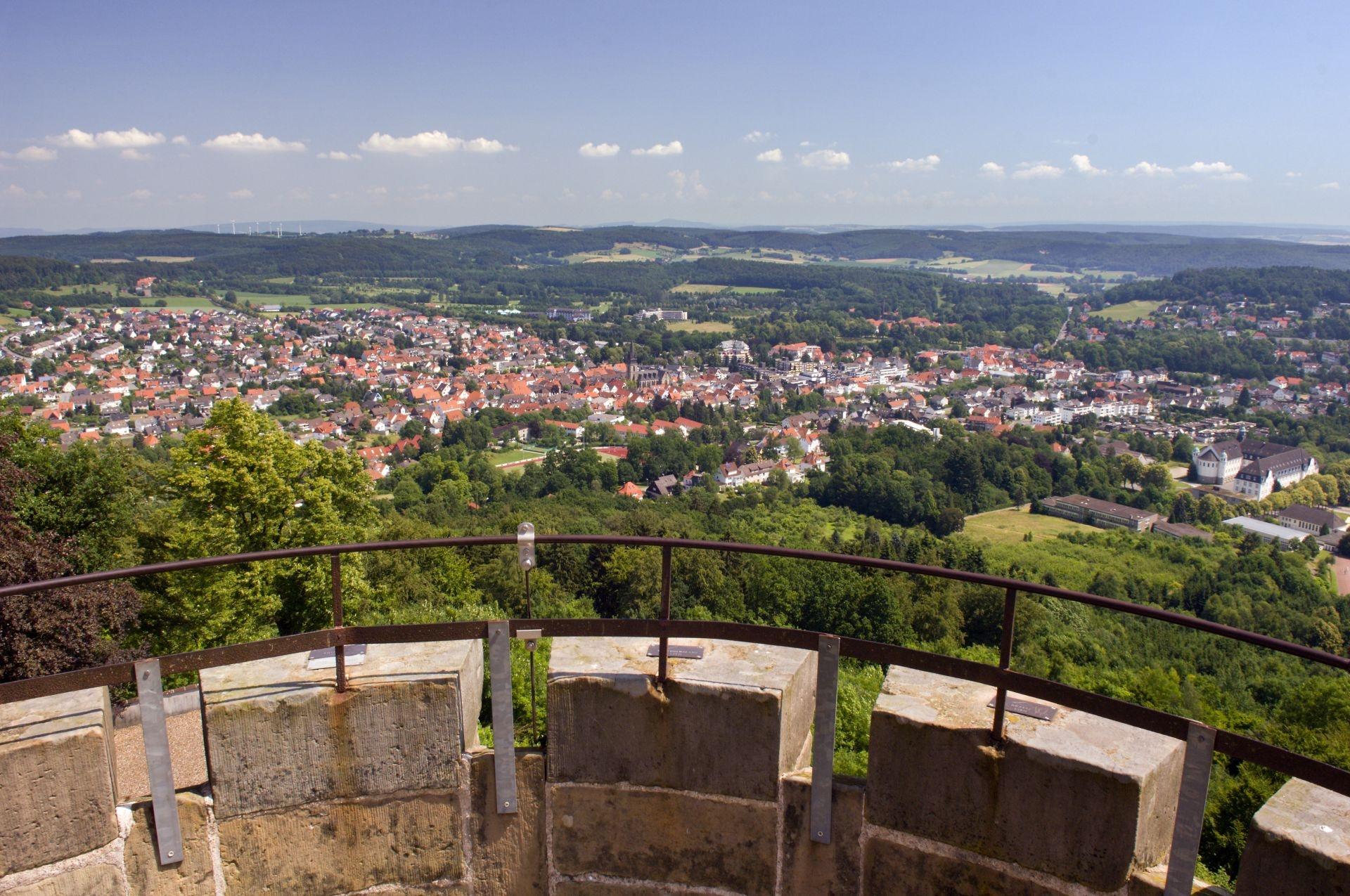 Blick vom Kaiser-Karls-Turm über Bad Driburg