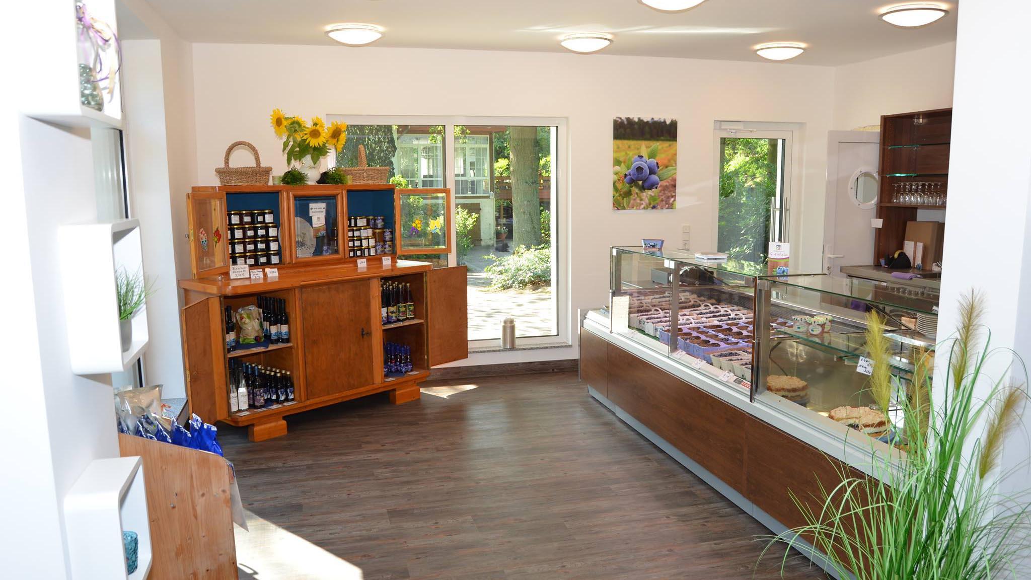 Café Blaubeergarten, Innenansicht