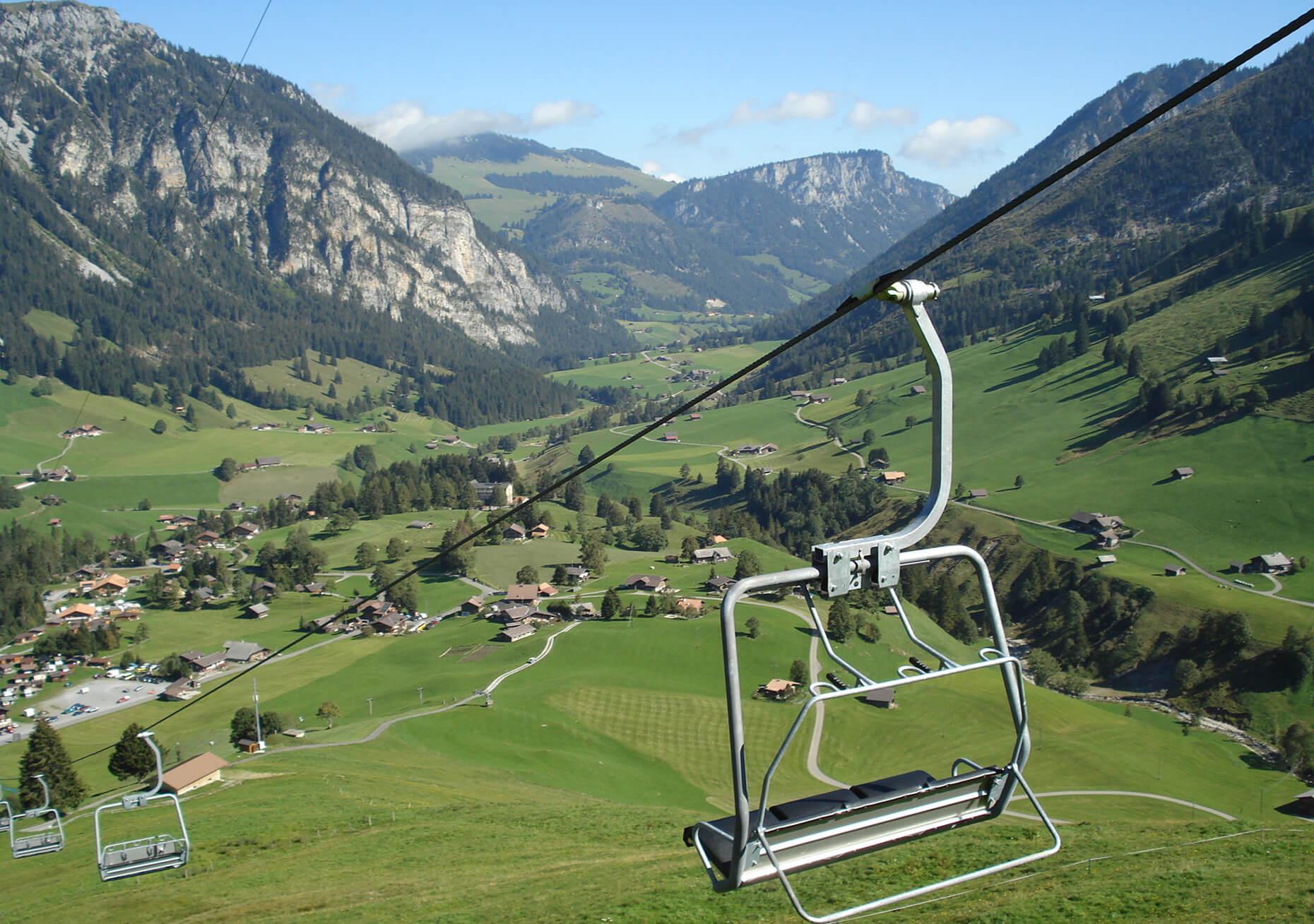Sesselbahn Grimmialp Sommer