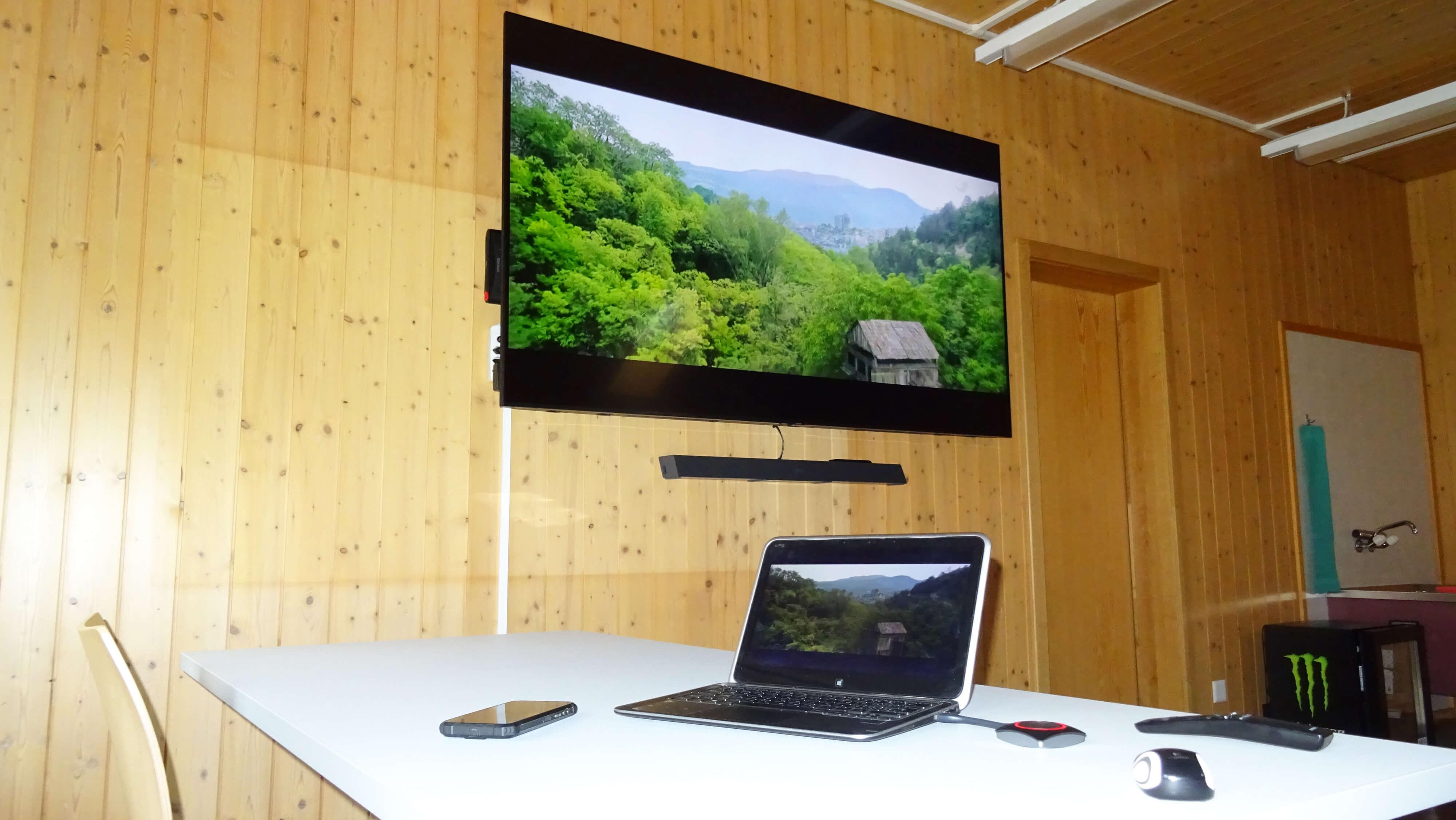 Barco Präsentationssystem im Seminarraum Süd
