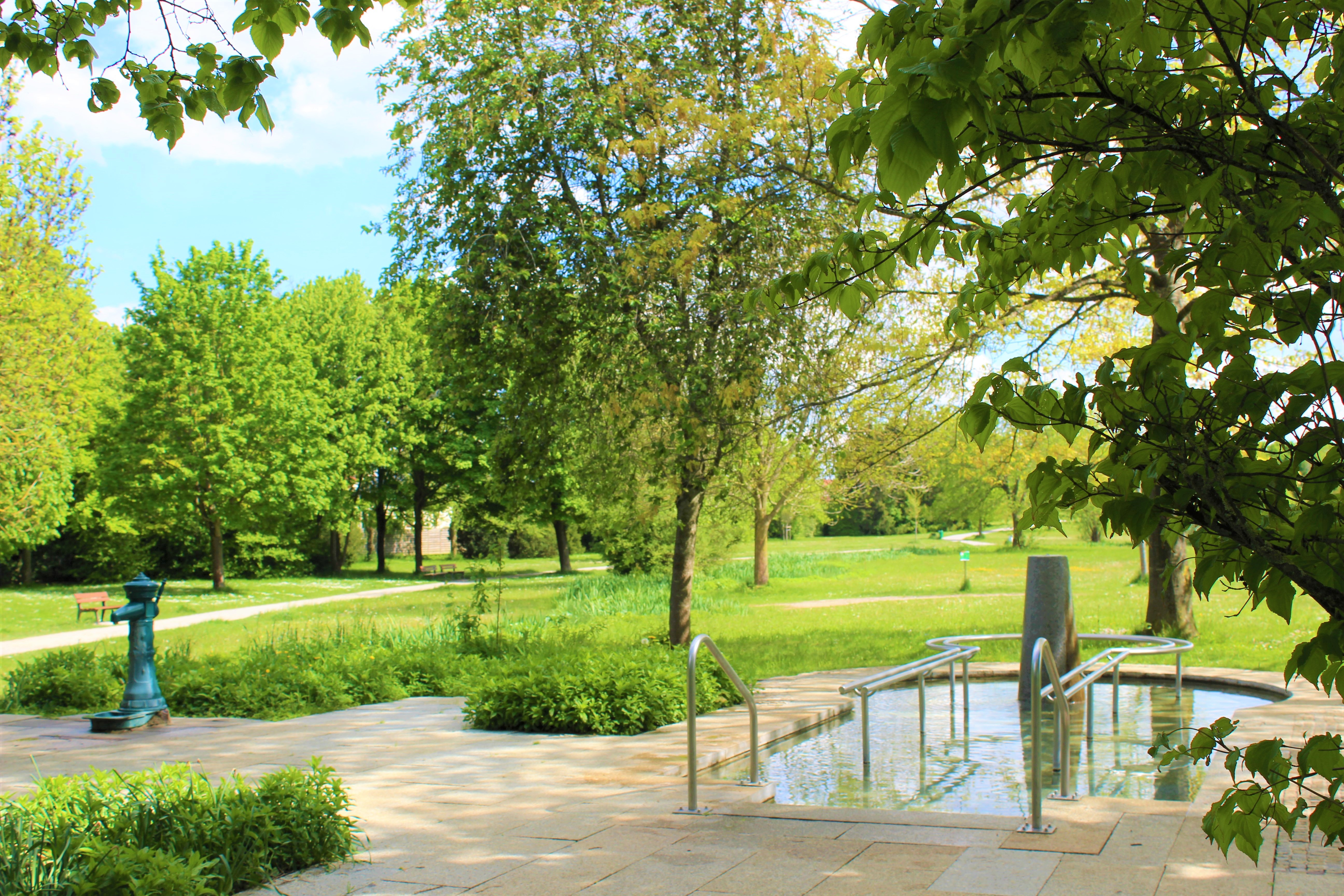 Wassertretstelle im Ostpark