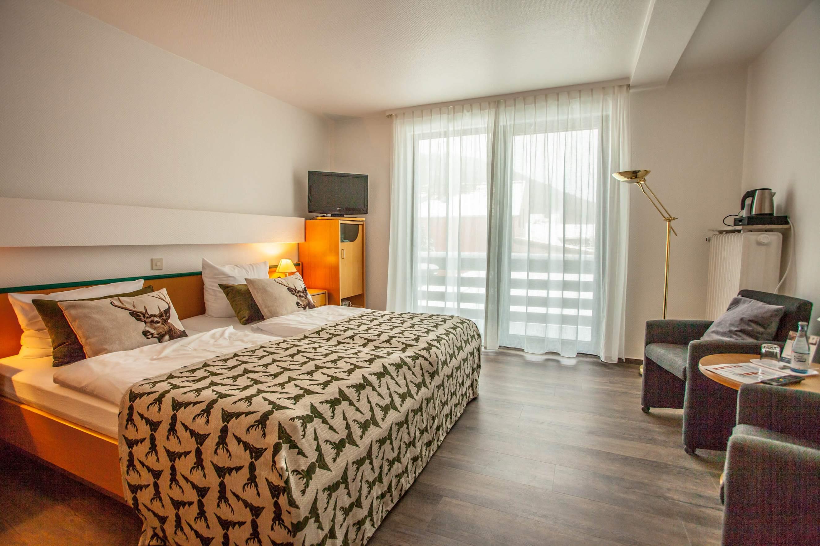 Harzhotel Haus Iris in Herzberg OT Sieber - Doppelzimmer mit Balkon
