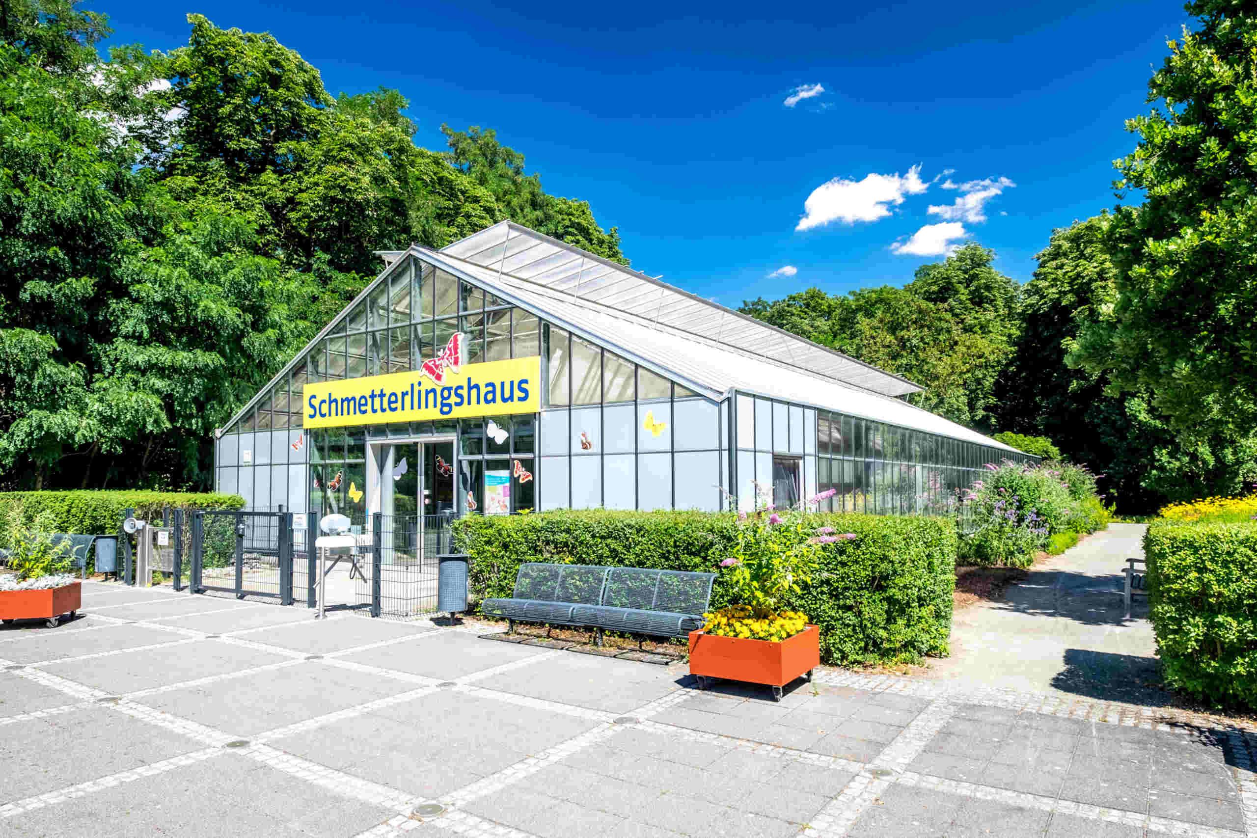Das Schmetterlingshaus im Elbauenpark