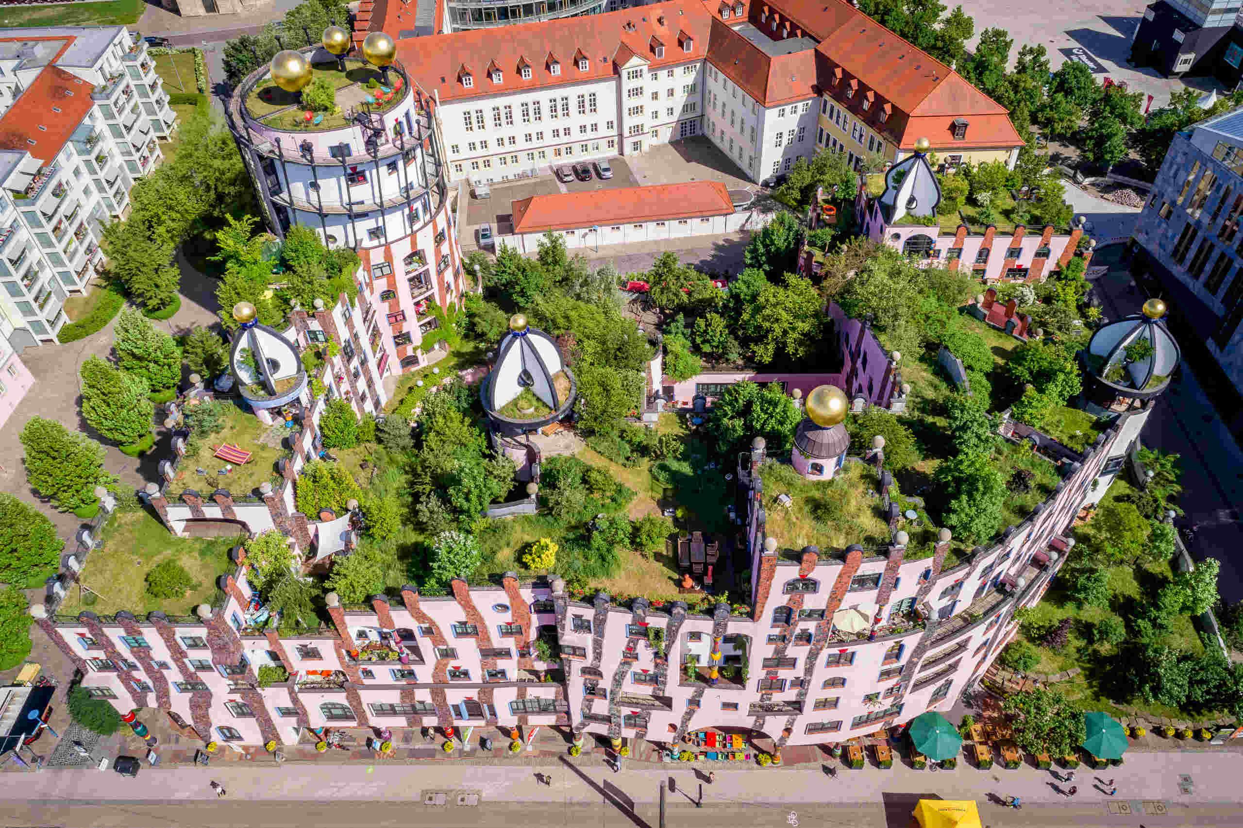 Die Grüne Zitadelle in Magdeburg, Dachbegrünung