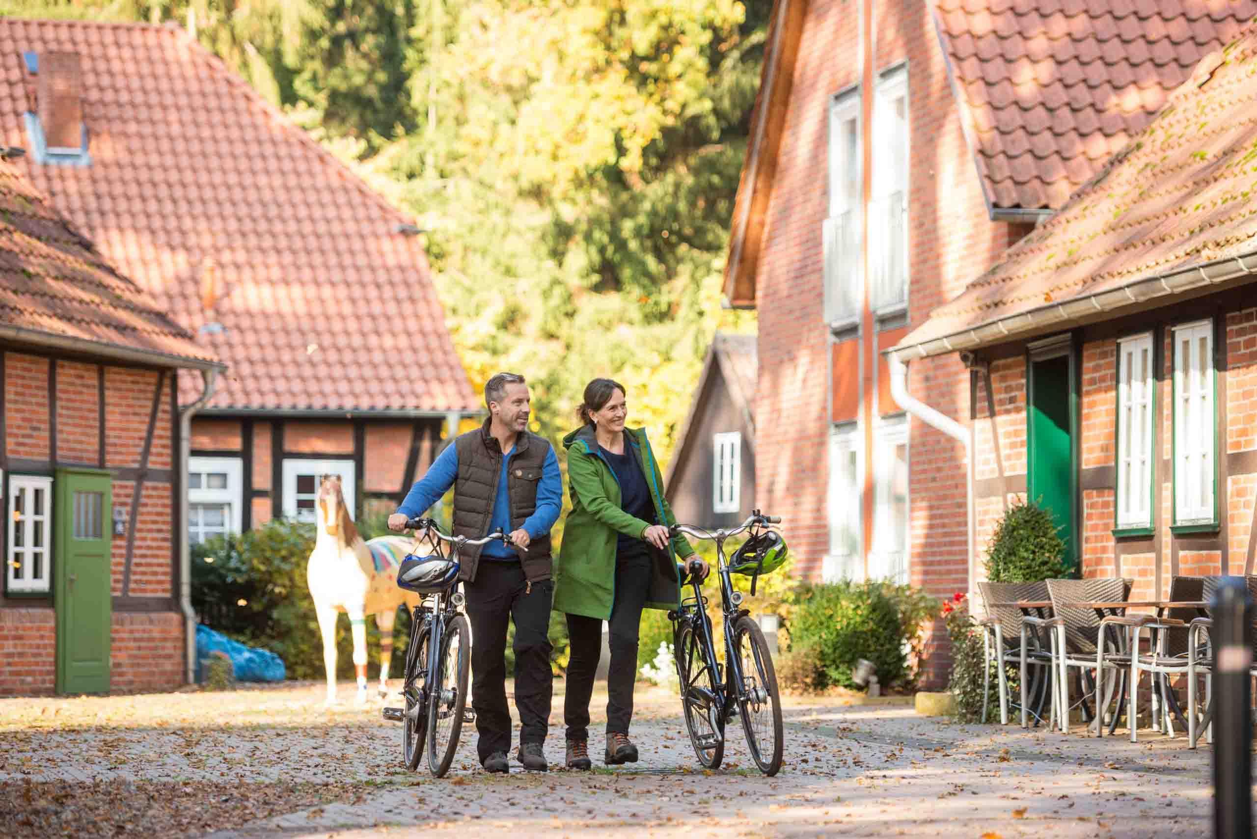 Der Ortskern mit Fachwerkhäusern in Wienhausen