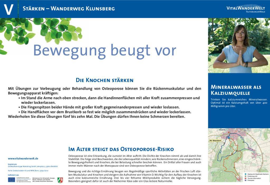 VitalWanderWelt Wanderweg Klunsberg - Bewegung beugt vor