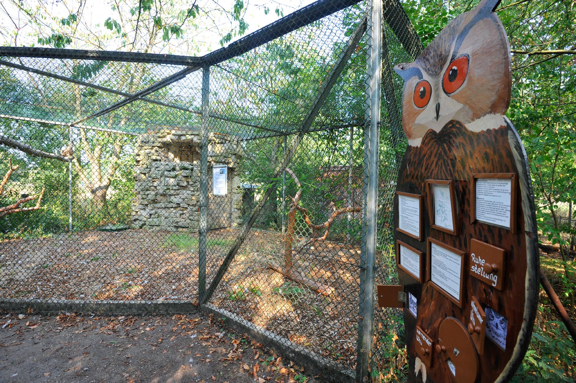 Gehege im Nabu-Artenschutzzentrum in Leiferde in der Südheide Gifhorn
