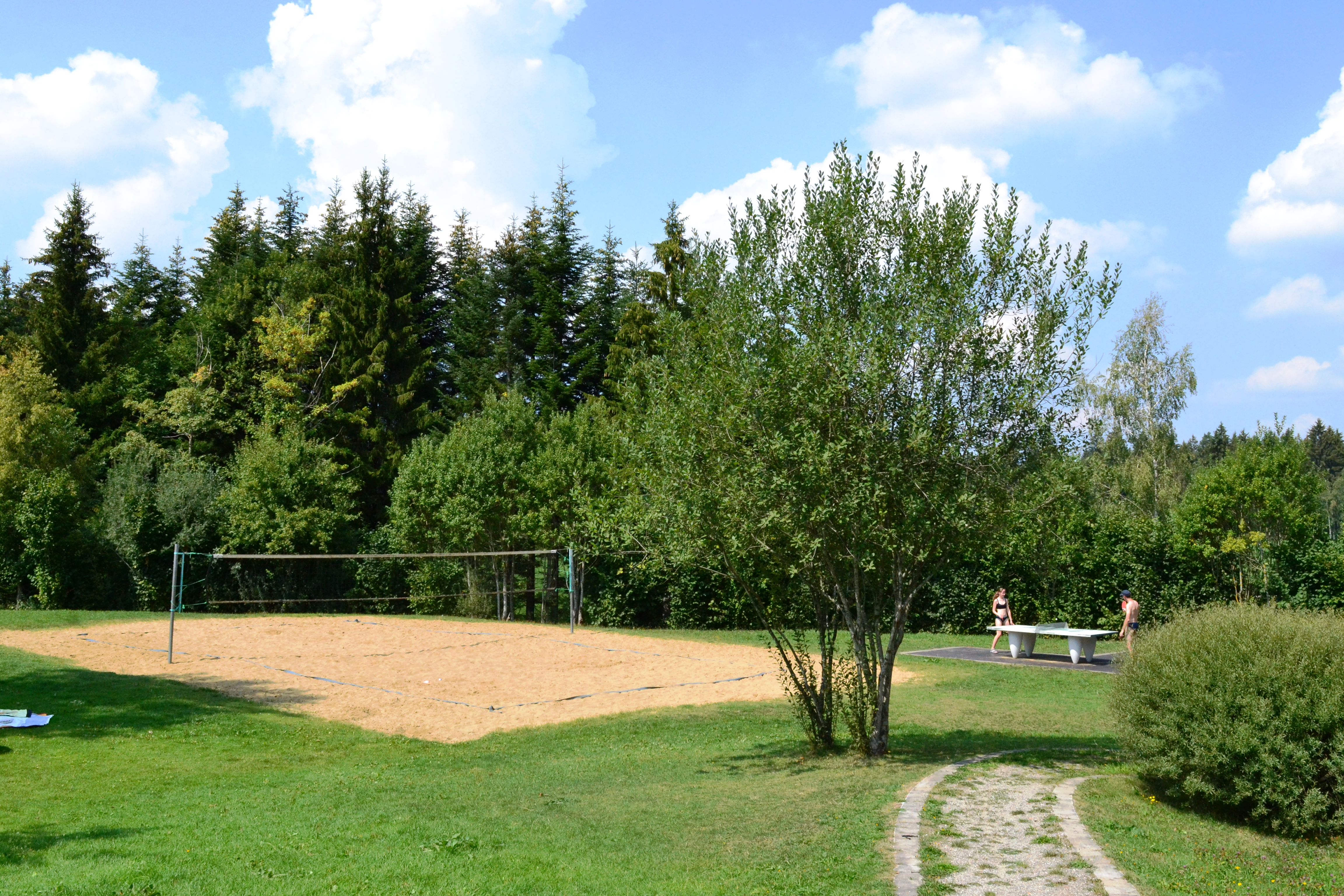 Beachvolleyball und Tischtennis am Waldseebad