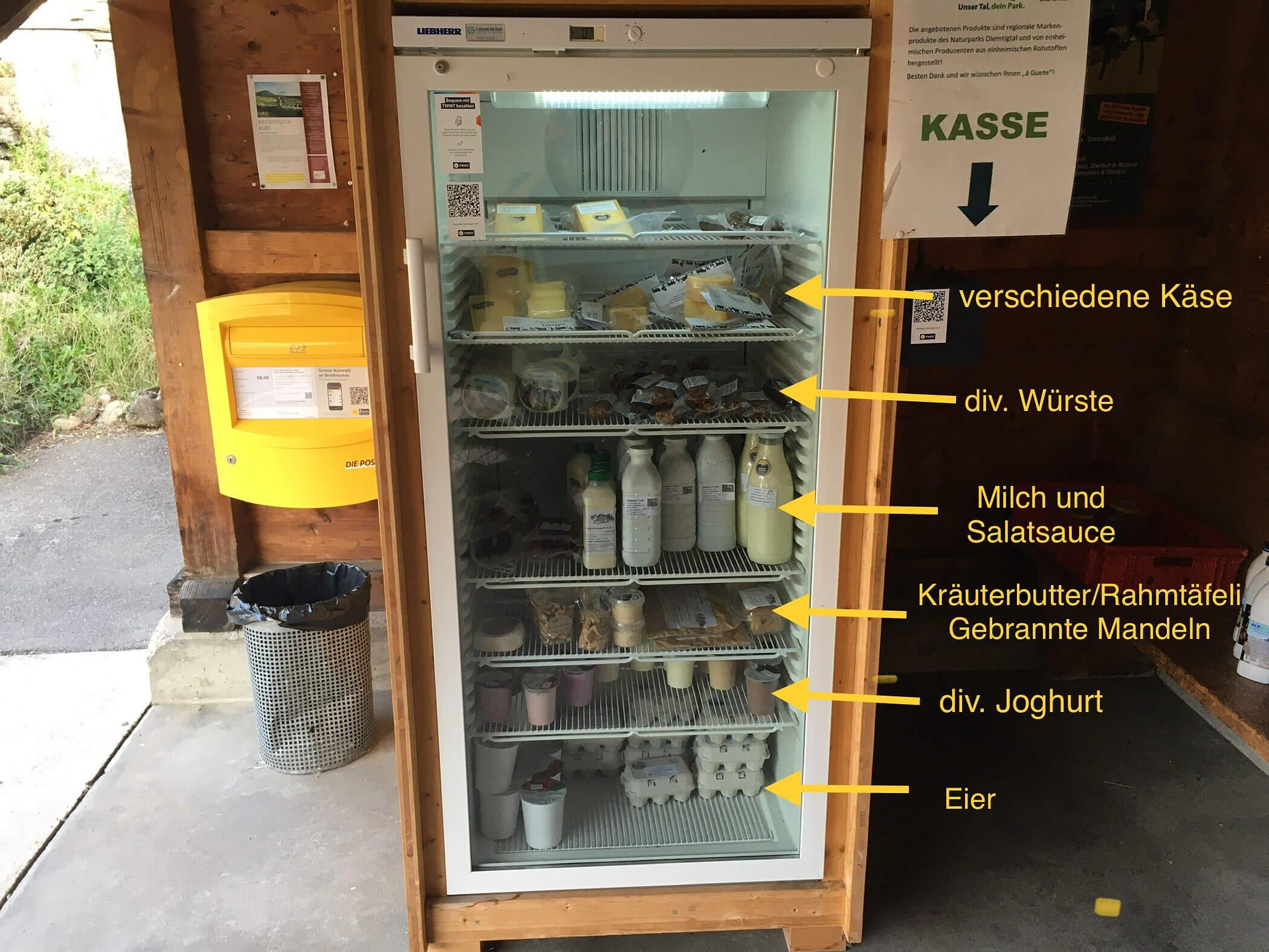 Produktekühlschrank in Diemtigen