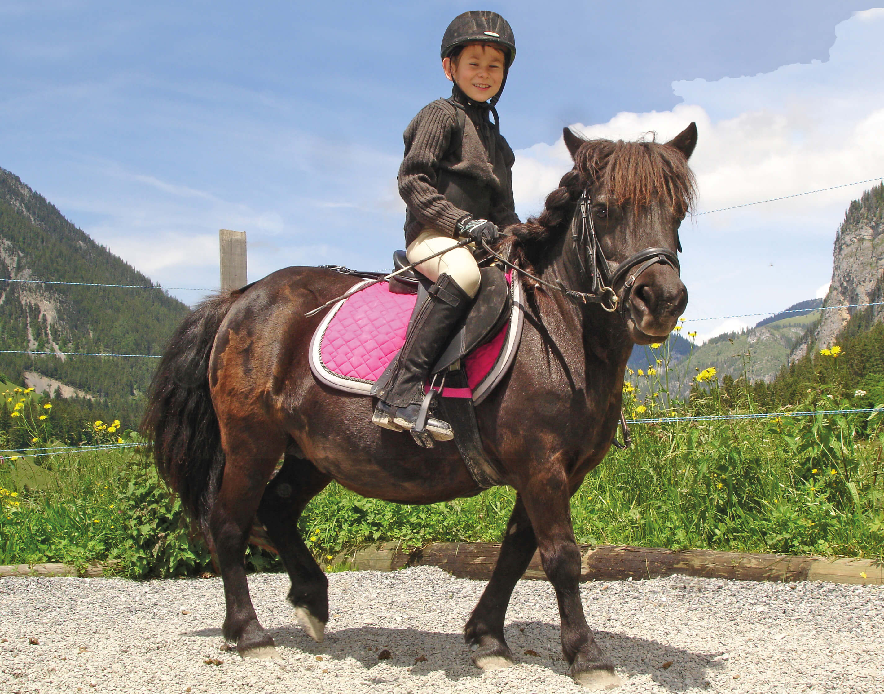Ponyreiten auf dem Reithof Lanzelot