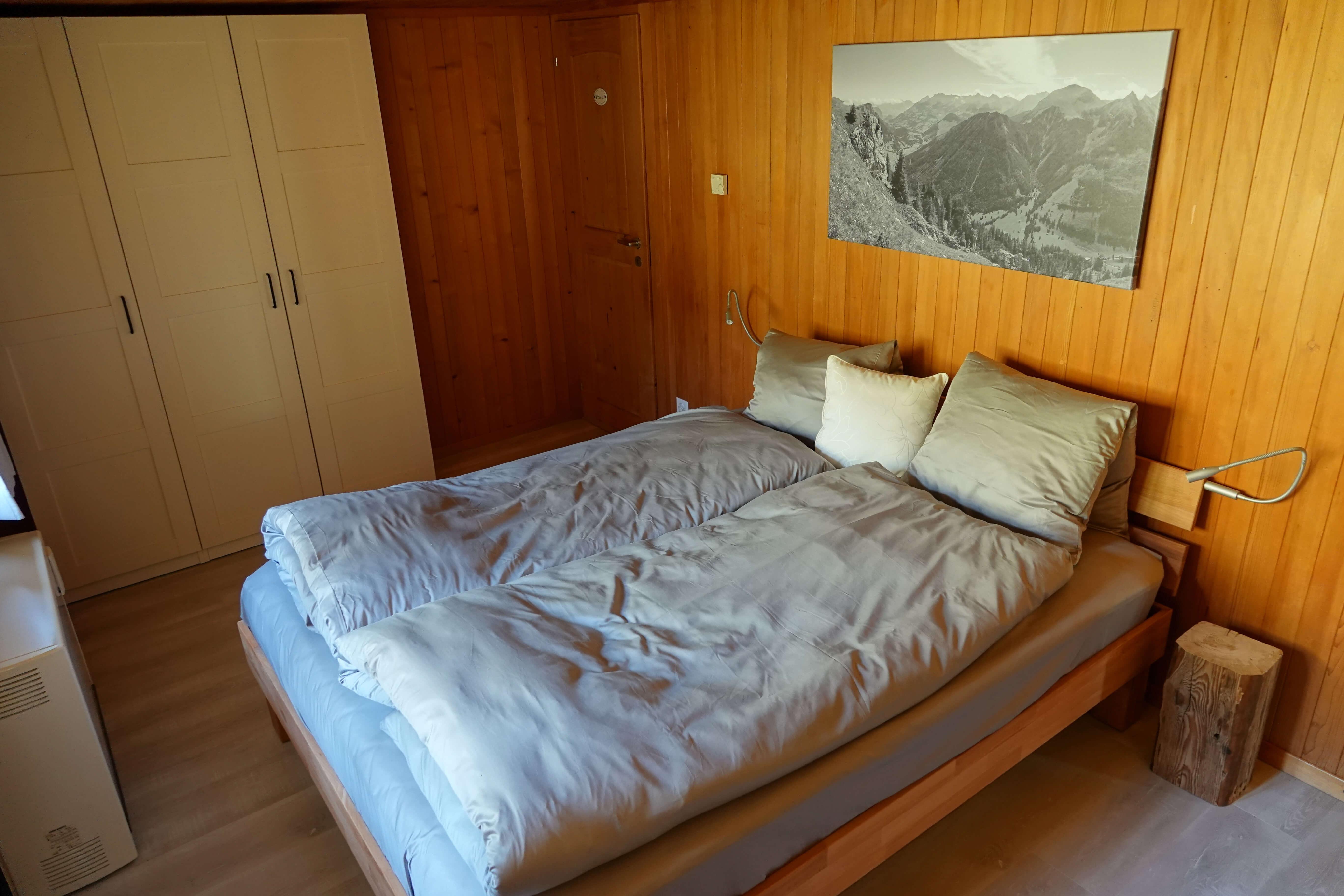 Schlafzimmer hinten im Obergeschoss