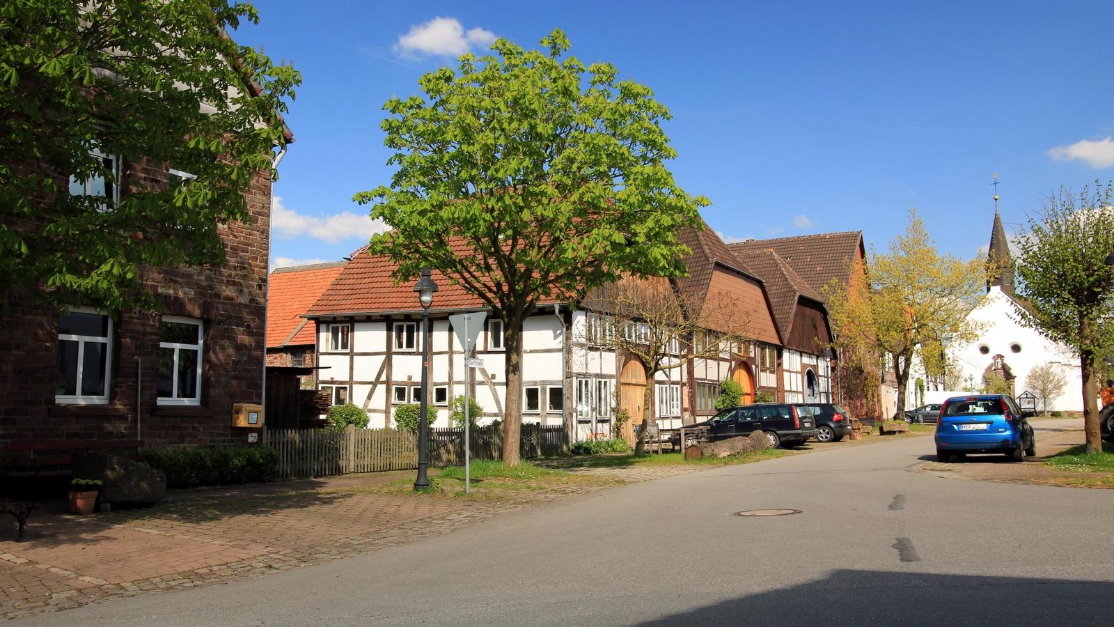 Dorfstraße in Blankenau