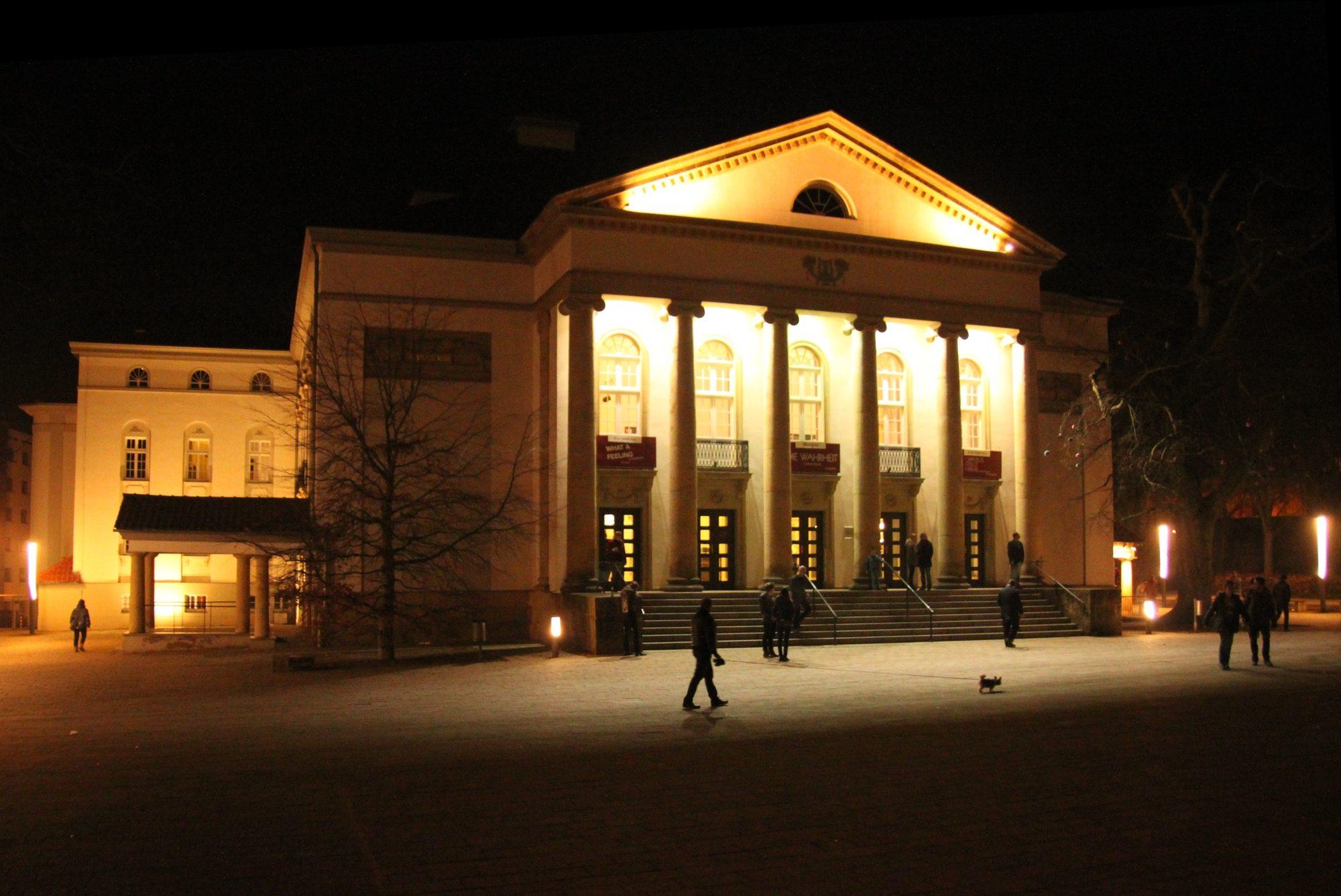 Nordhausen Theater bei Nacht