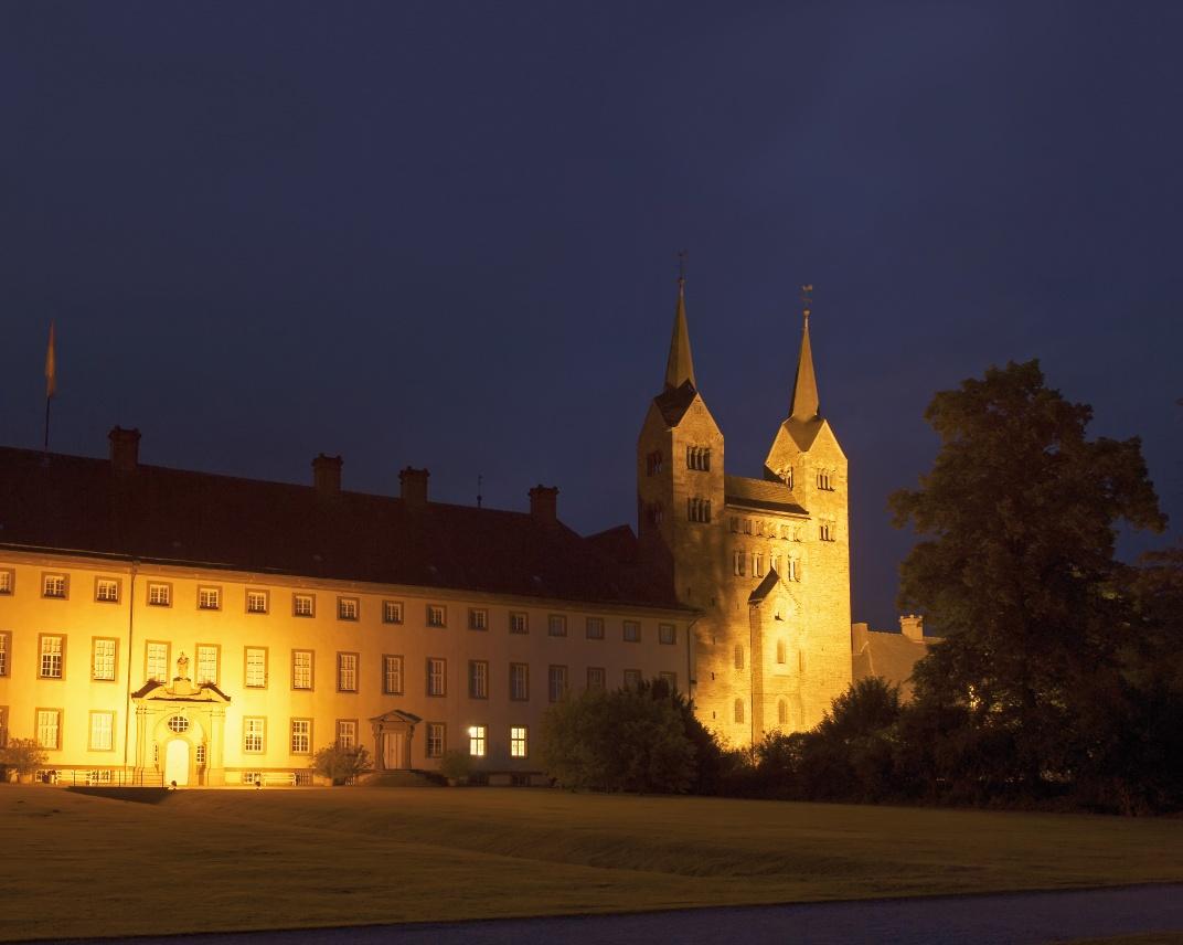 UNESCO Weltkulturerbe Corvey bei Nacht