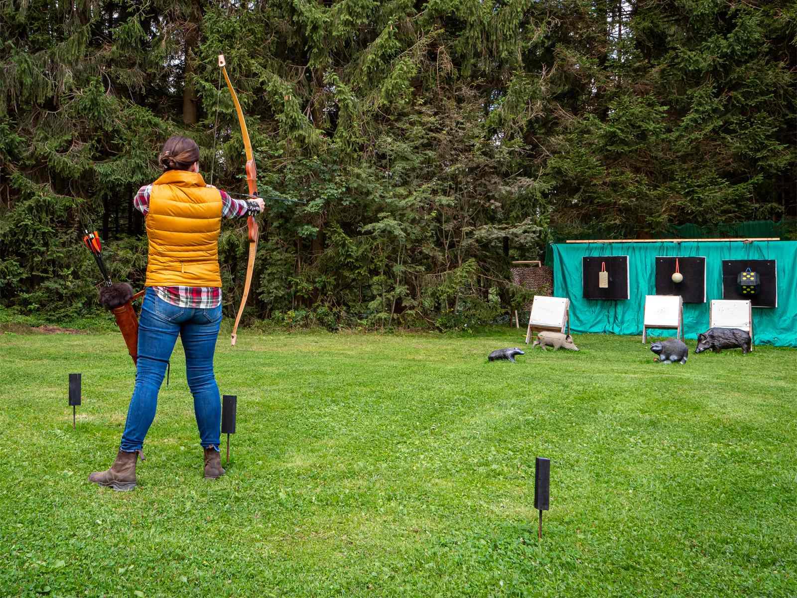 3D-Bogenparcours in Clausthal-Zellerfeld - Wiese