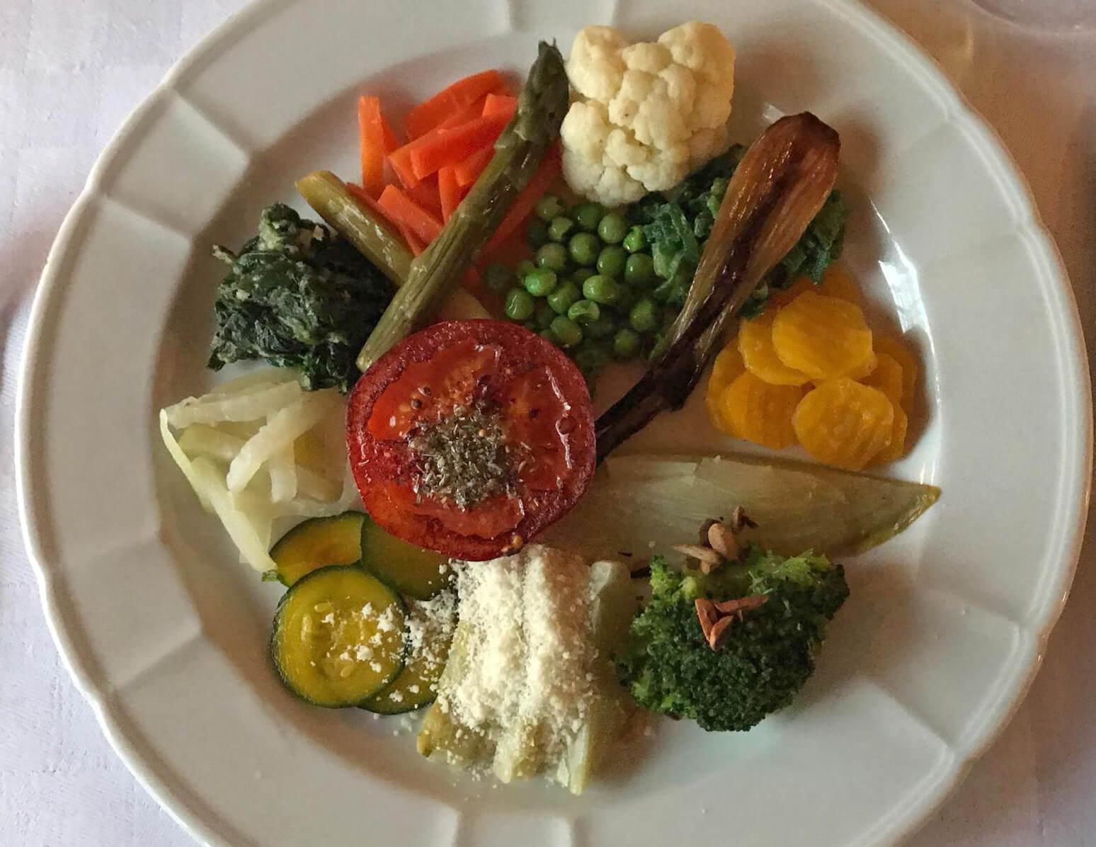Gemüseteller gesundes Gericht Bergli