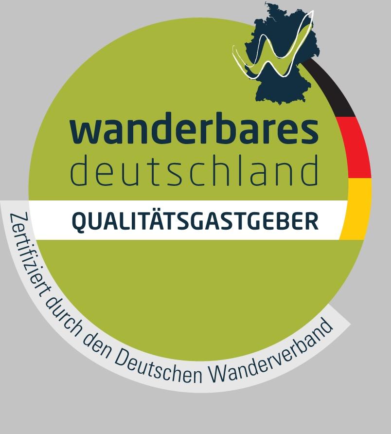 Gütesiegel Qualitätsgastgeber Wanderbares Deutschland