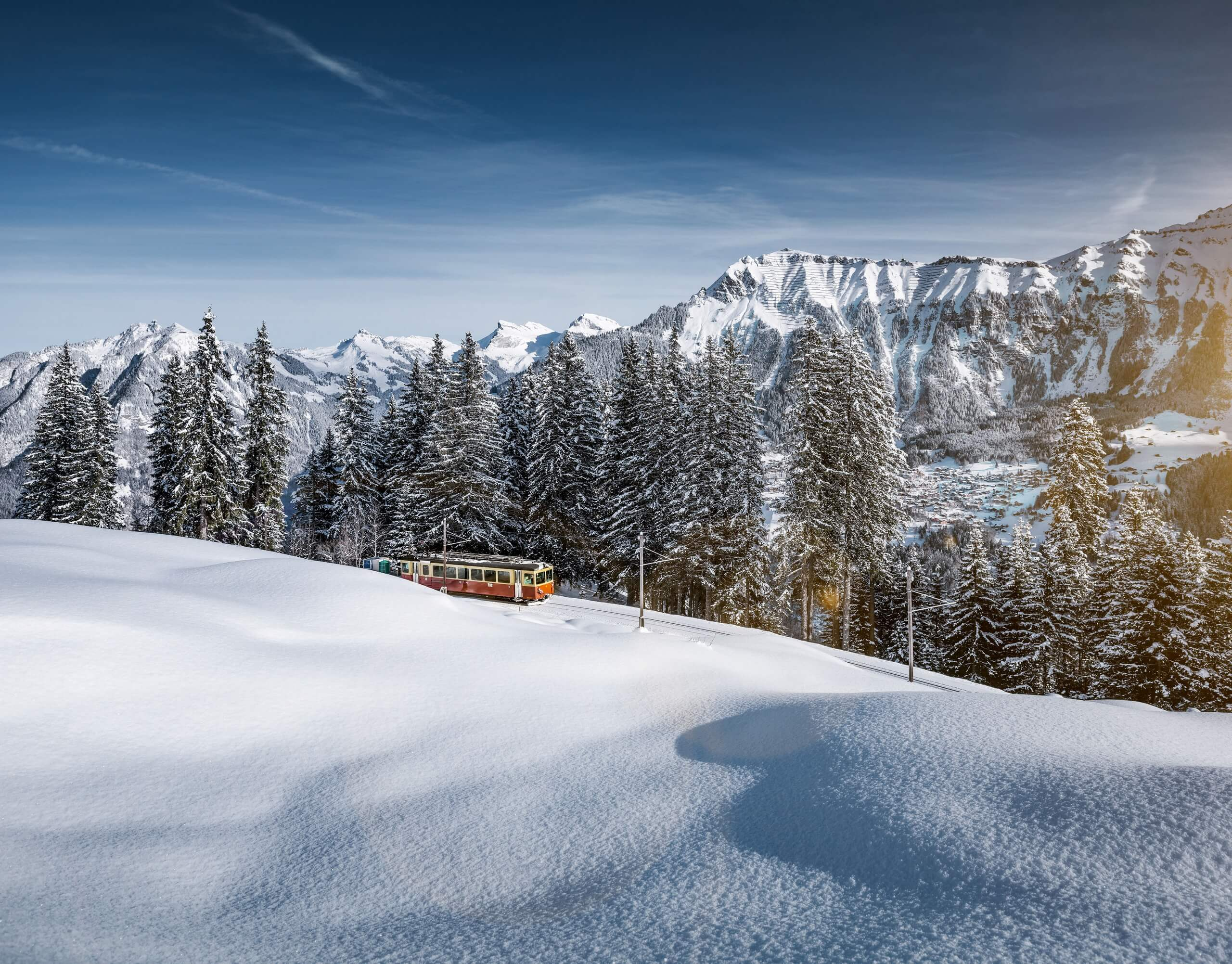bergbahn-lauterbrunnen-muerren-zug-winter