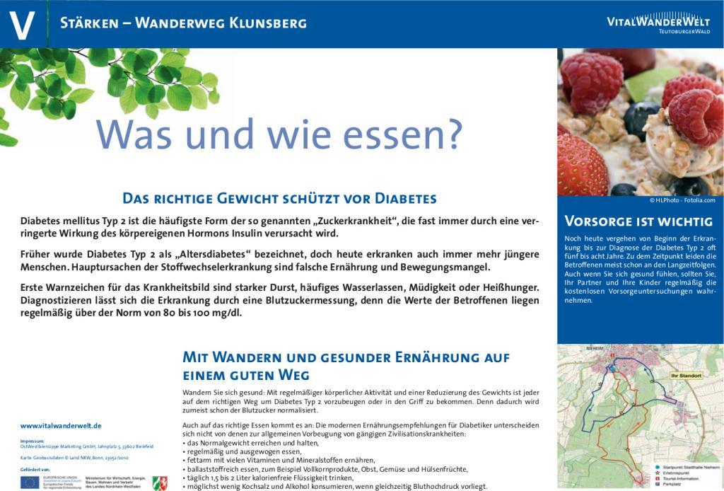 VitalWanderWelt Wanderweg Klunsberg - Was und wie essen?