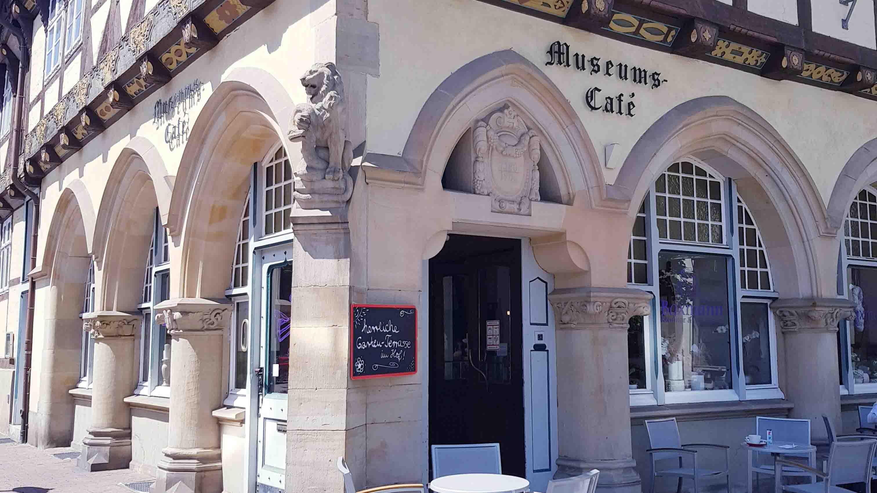 Café Baxmann Celle, Eingang