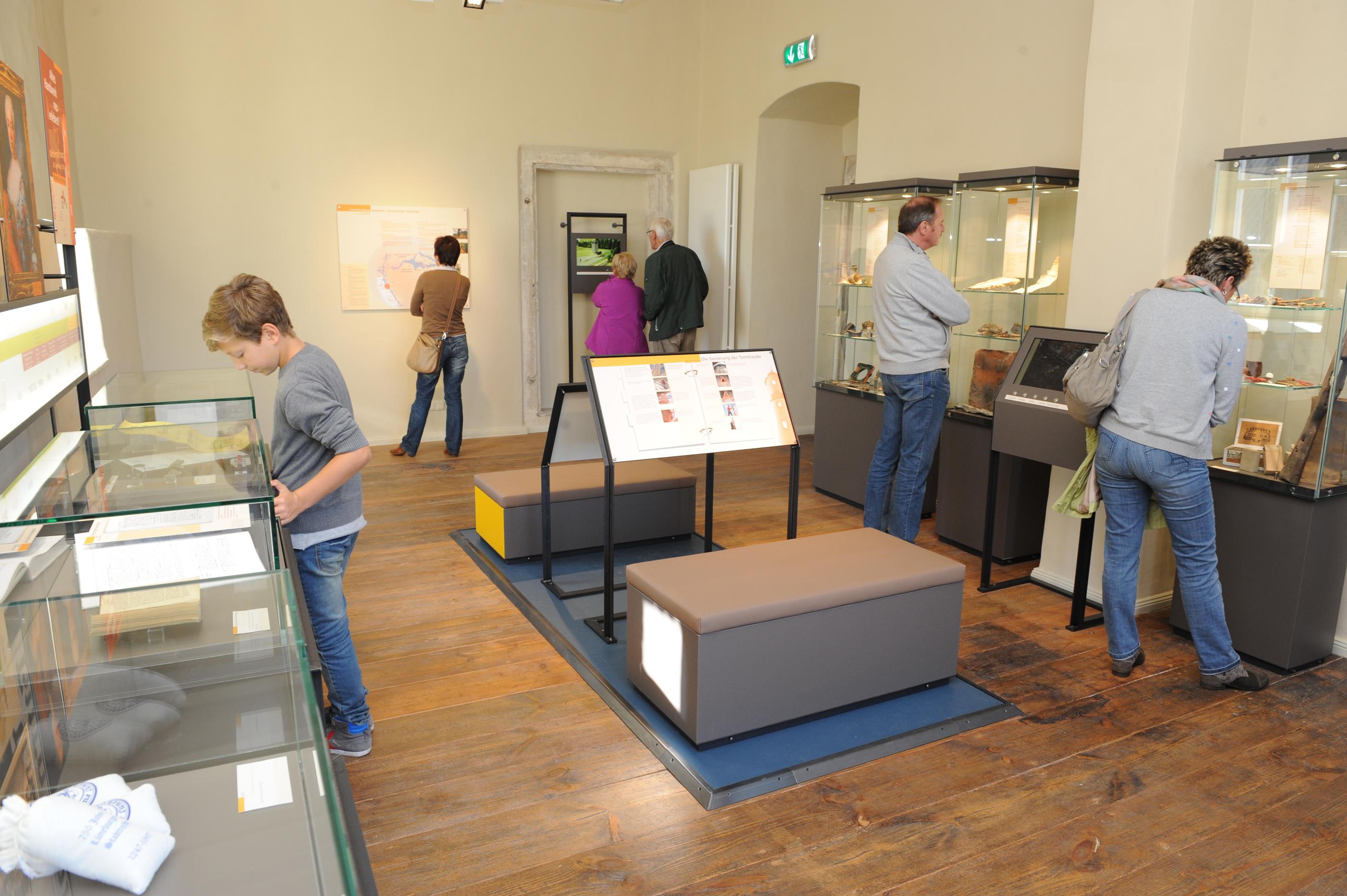 Ausstellungsräume in dem Museum Burg Brome