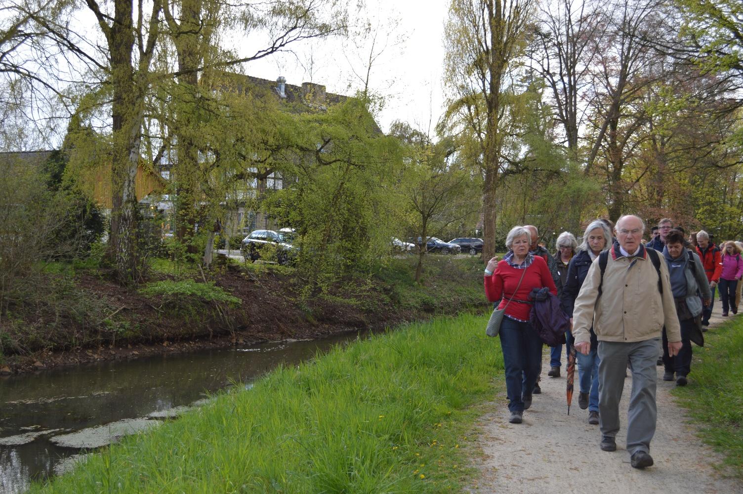 Wandern auf dem Hermannsweg im Bereich Bevergern