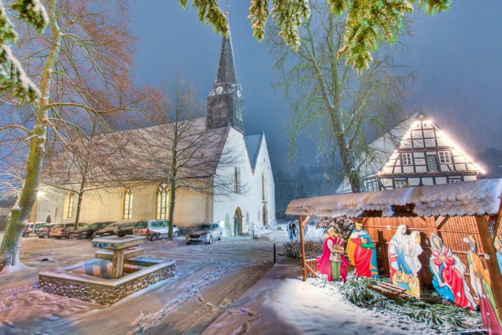 St. Stephans-Kirche im Winter