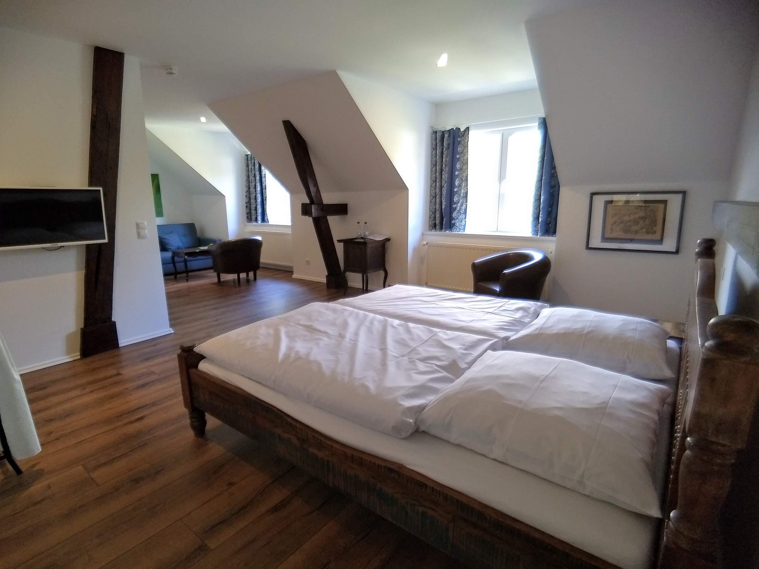 """Hotelpension """"Das Gartenhaus"""" in Neudorf - Schlafzimmer"""