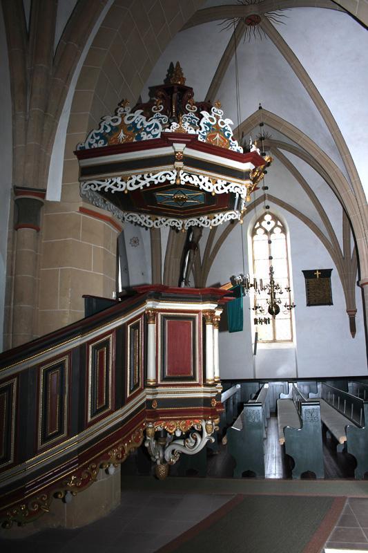 Stiftskirche Levern Historische Kanzel