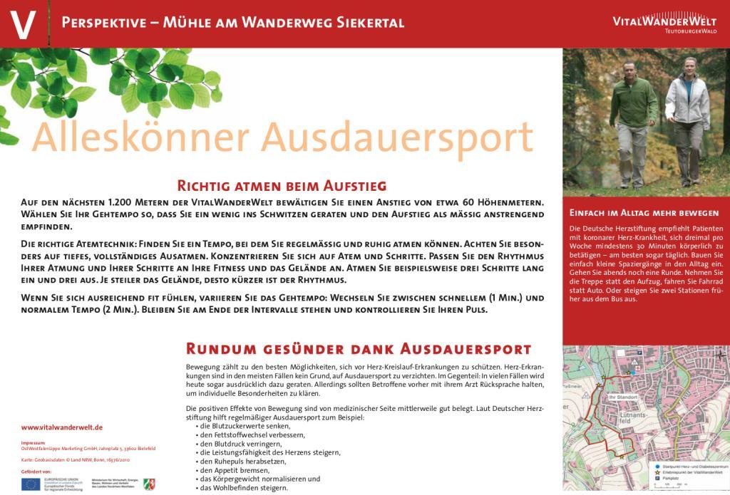 VitalWanderWelt Mühle am Wanderweg Siekertal - Alleskönner Ausdauersport