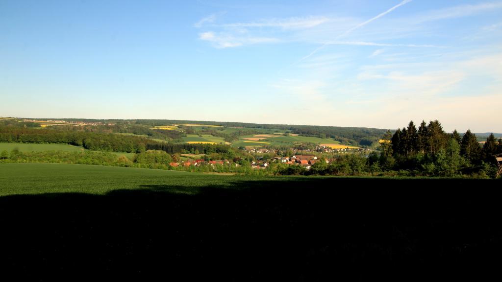 Blick vom Bierenberg über Blankenau zum Sooling