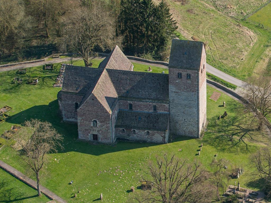 Luftbild der Kilianskirche