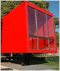 Info-Pavillon `Nasses Dreieck` (Red Box)