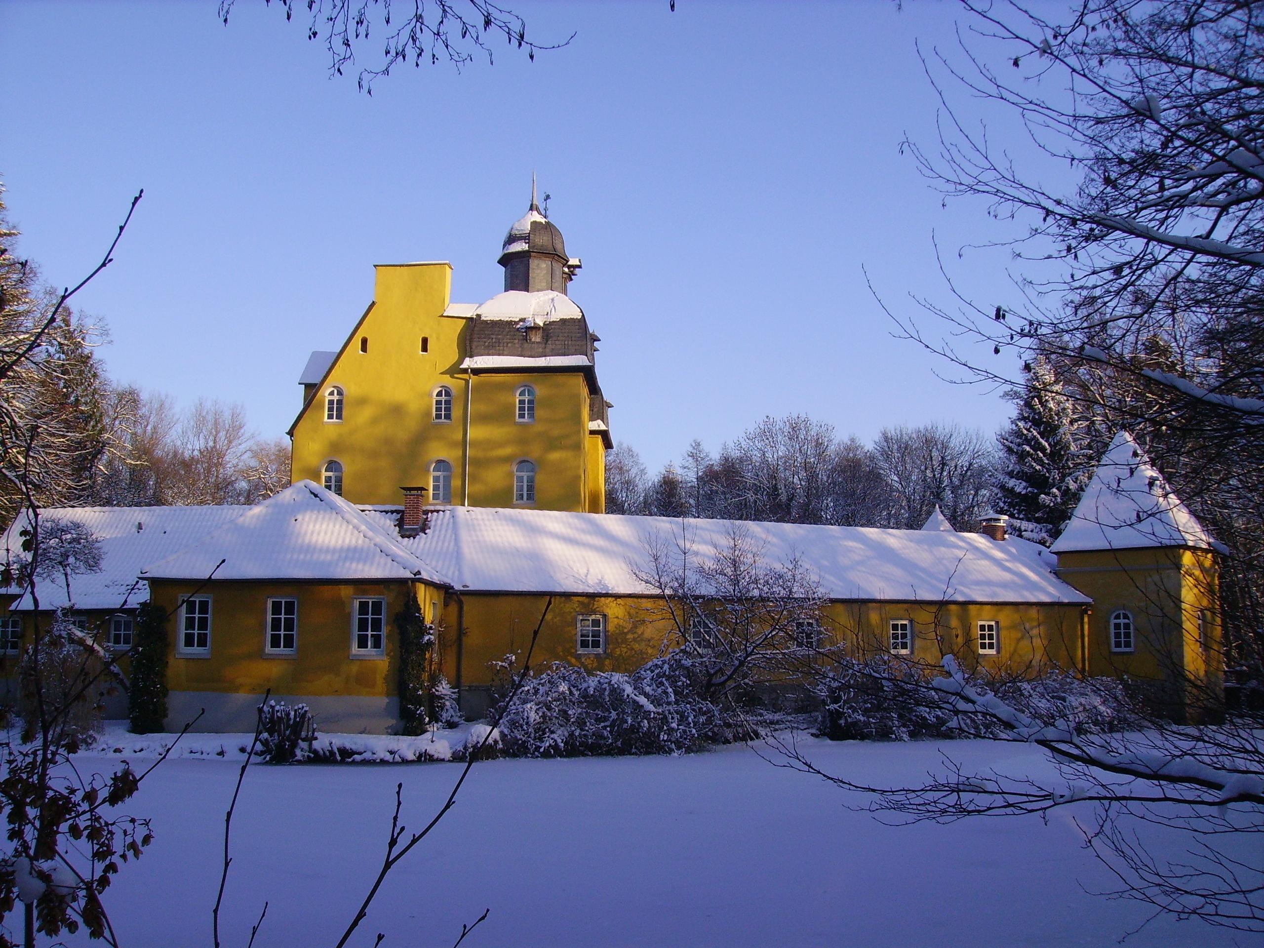 Jagdschloss Holte im Schnee