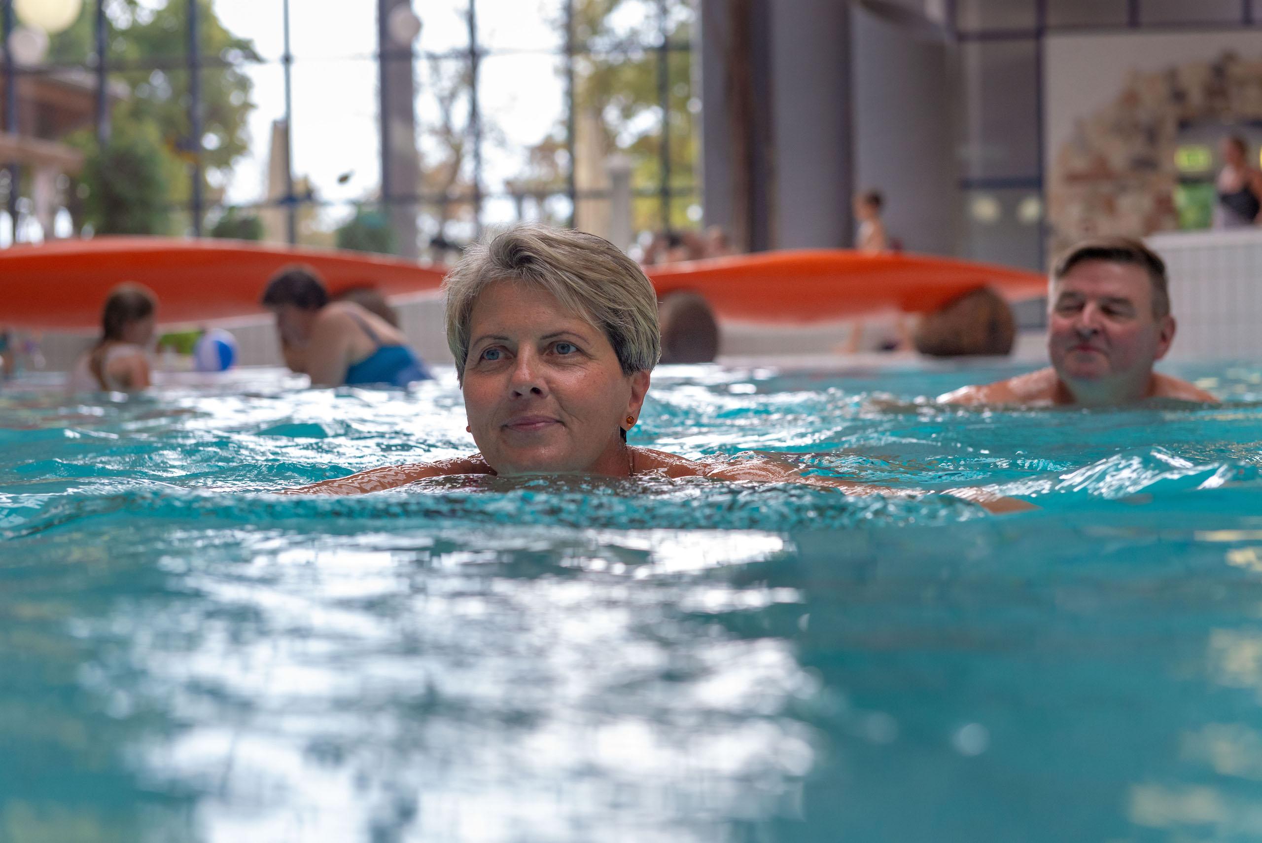 Schwimmen in der Kyffhäuser Therme