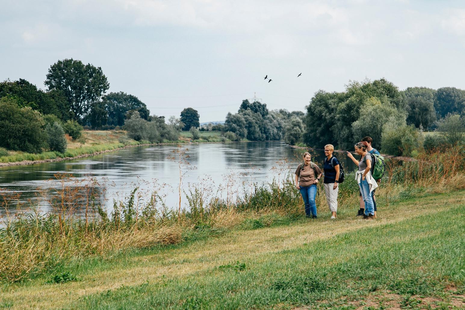 Entlpang der Weser
