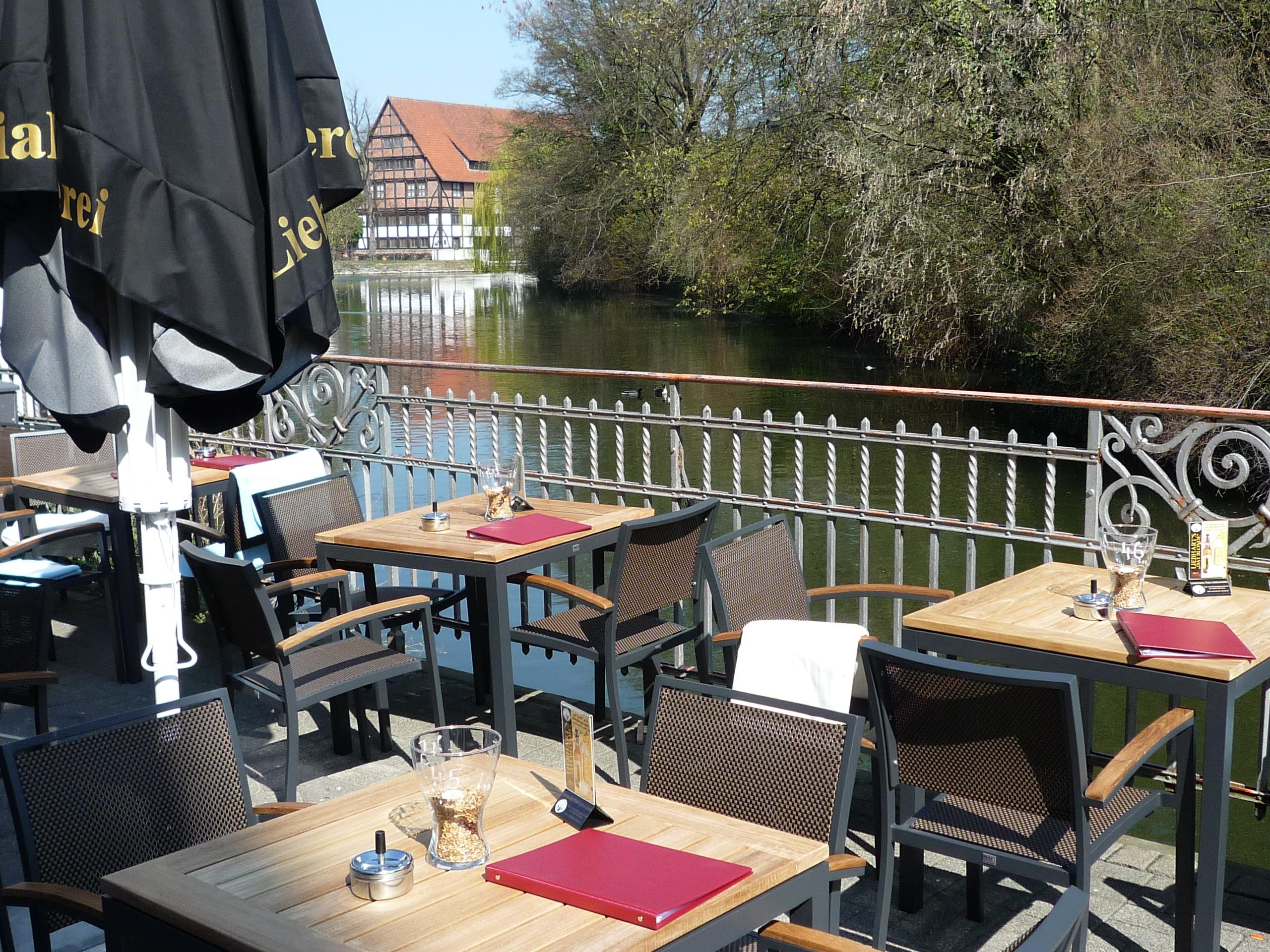 Pause in der Altstadt von Detmold