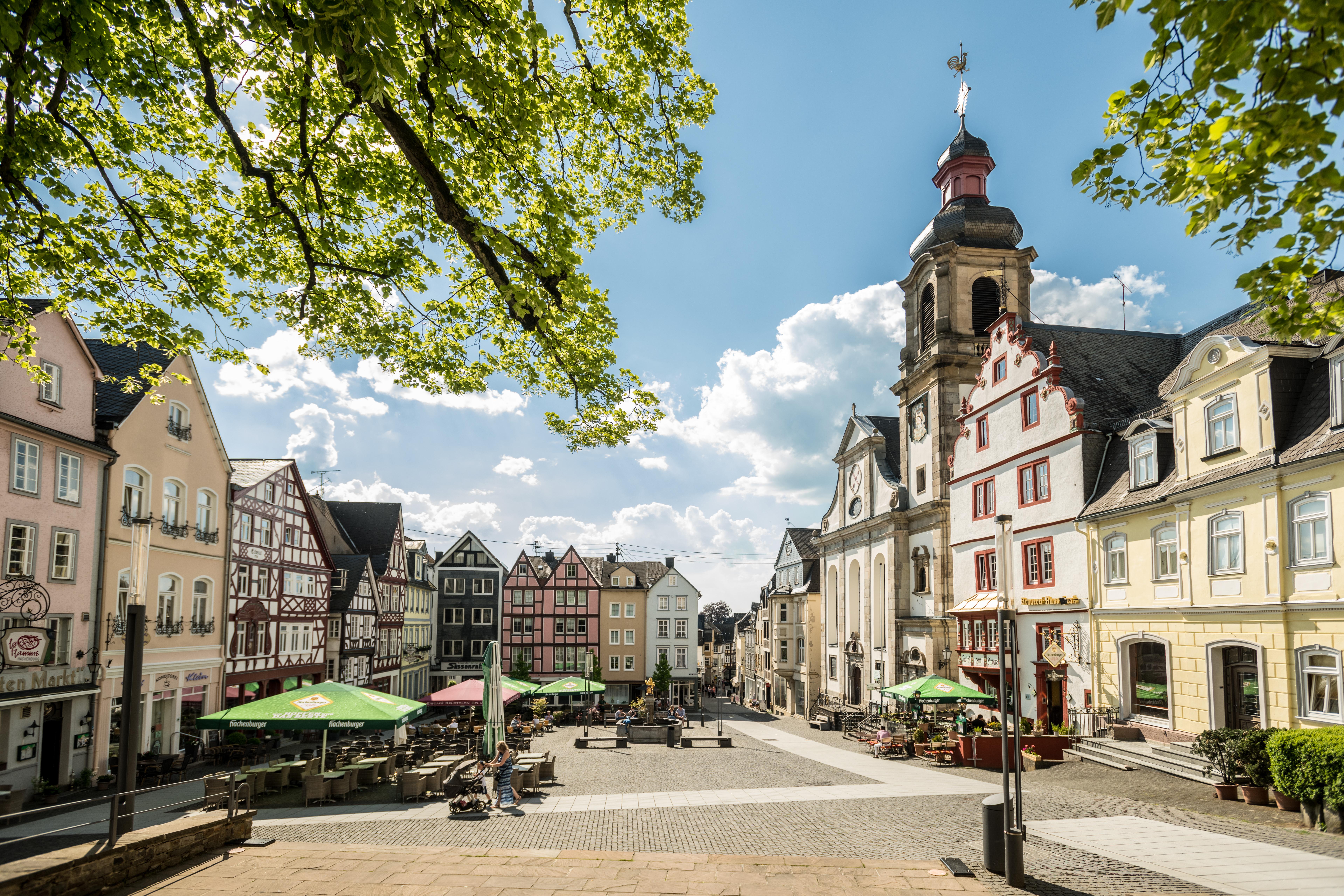 Marktplatz von Hachenburg
