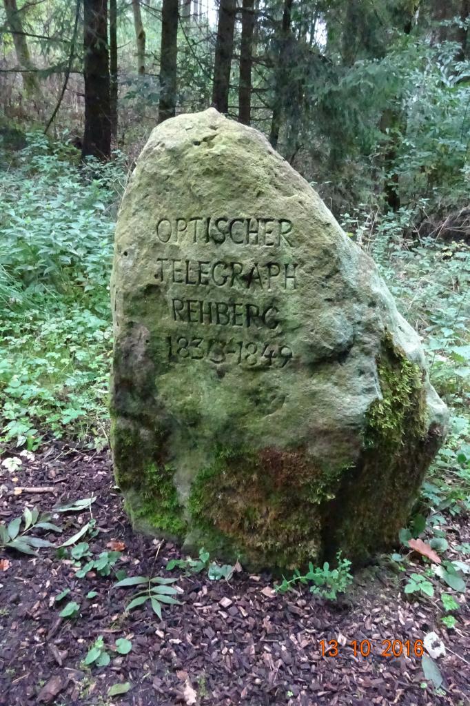 Optischer Telegraph Stein