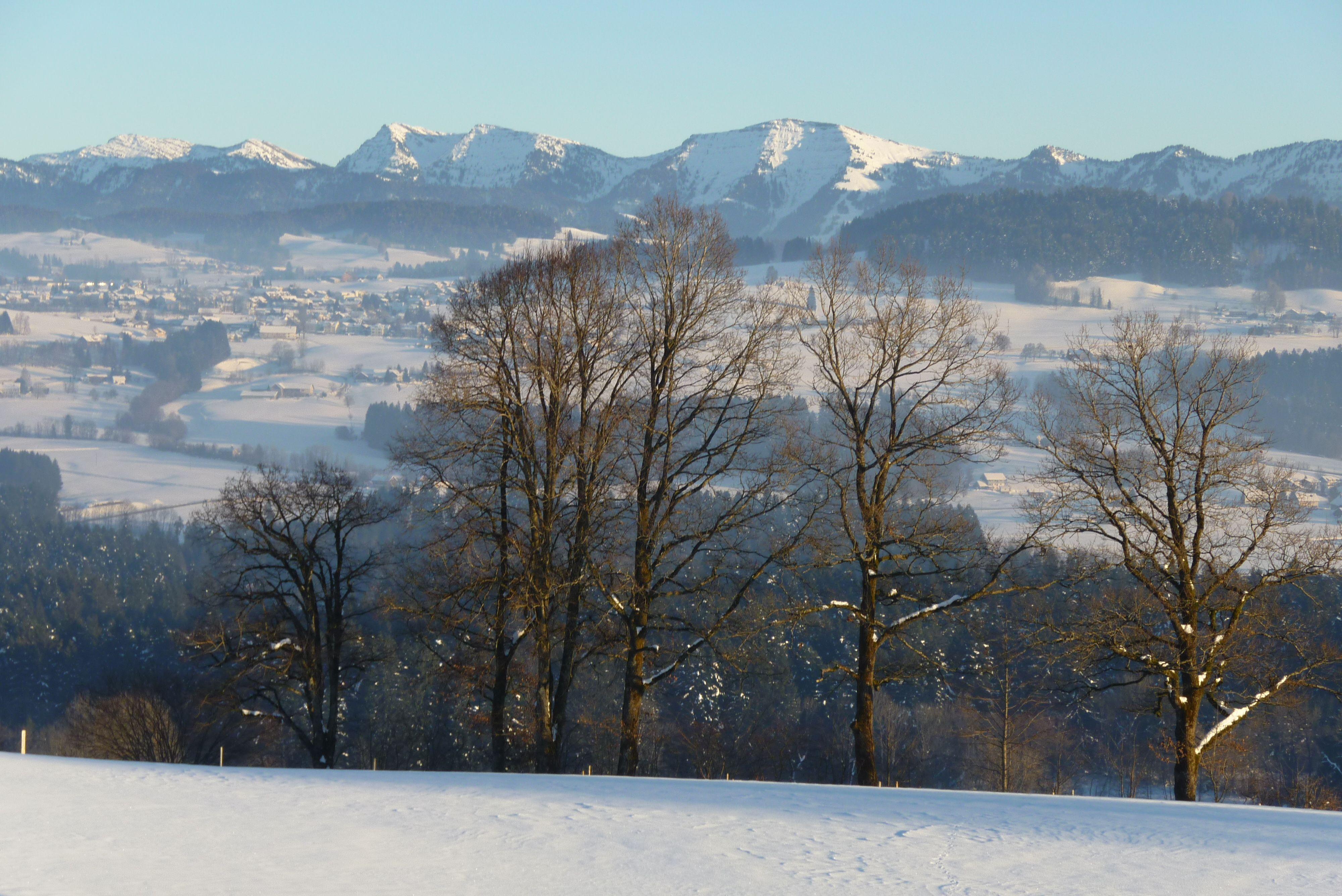 Zum Stinesler, Ausblick im Winter
