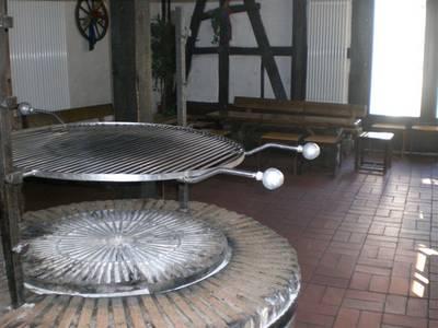 Grillraum in der alten Papiermühle