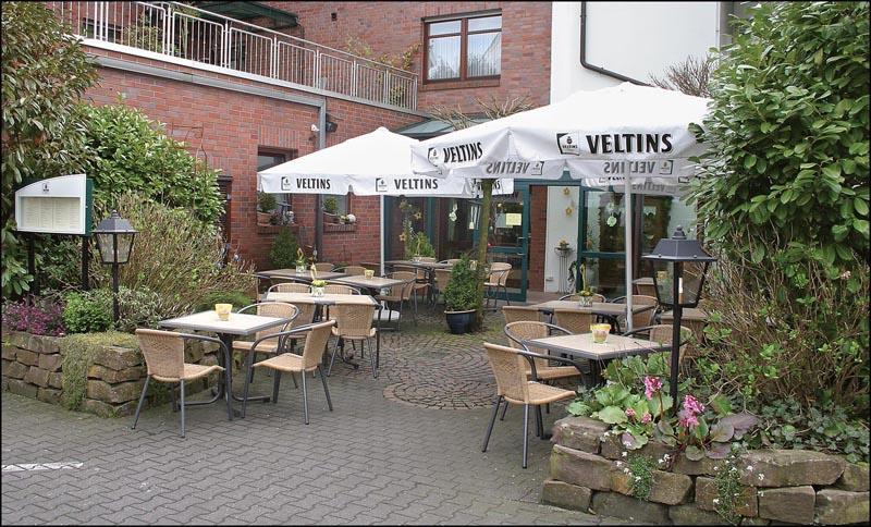 Biergarten im Hotel Appel-Krug