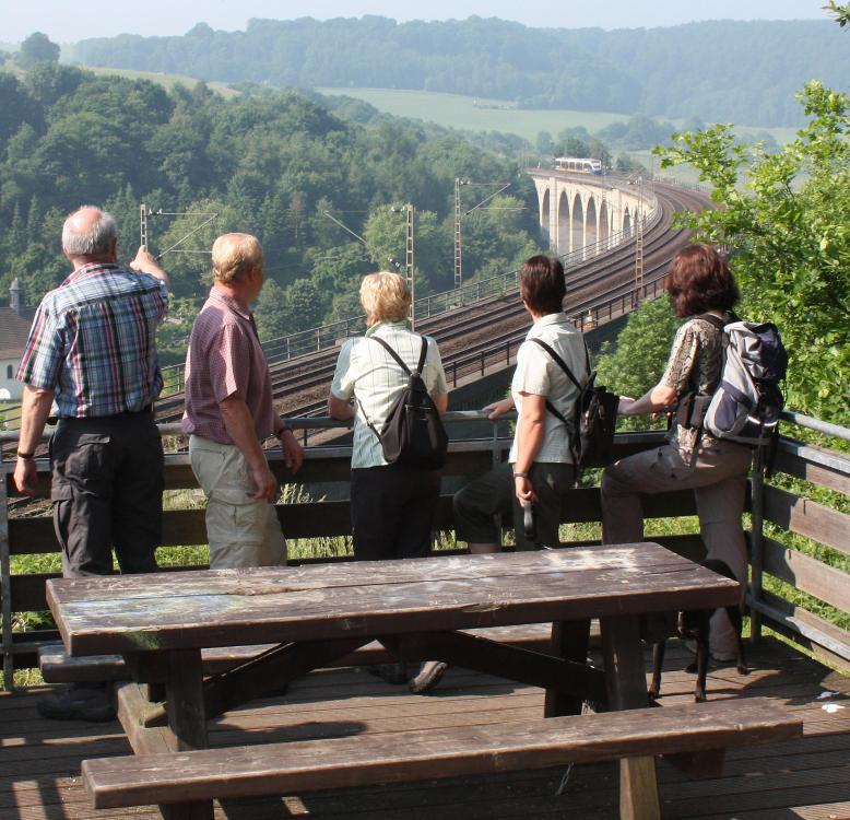 Blick von der Aussichtsplattform Altenbeken